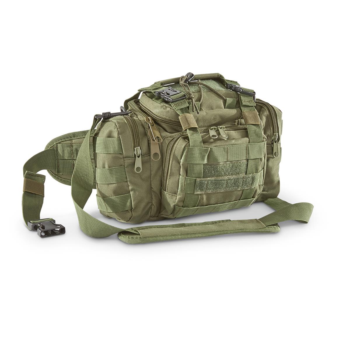 Tactical Shooter's Shoulder Bag, Olive Drab