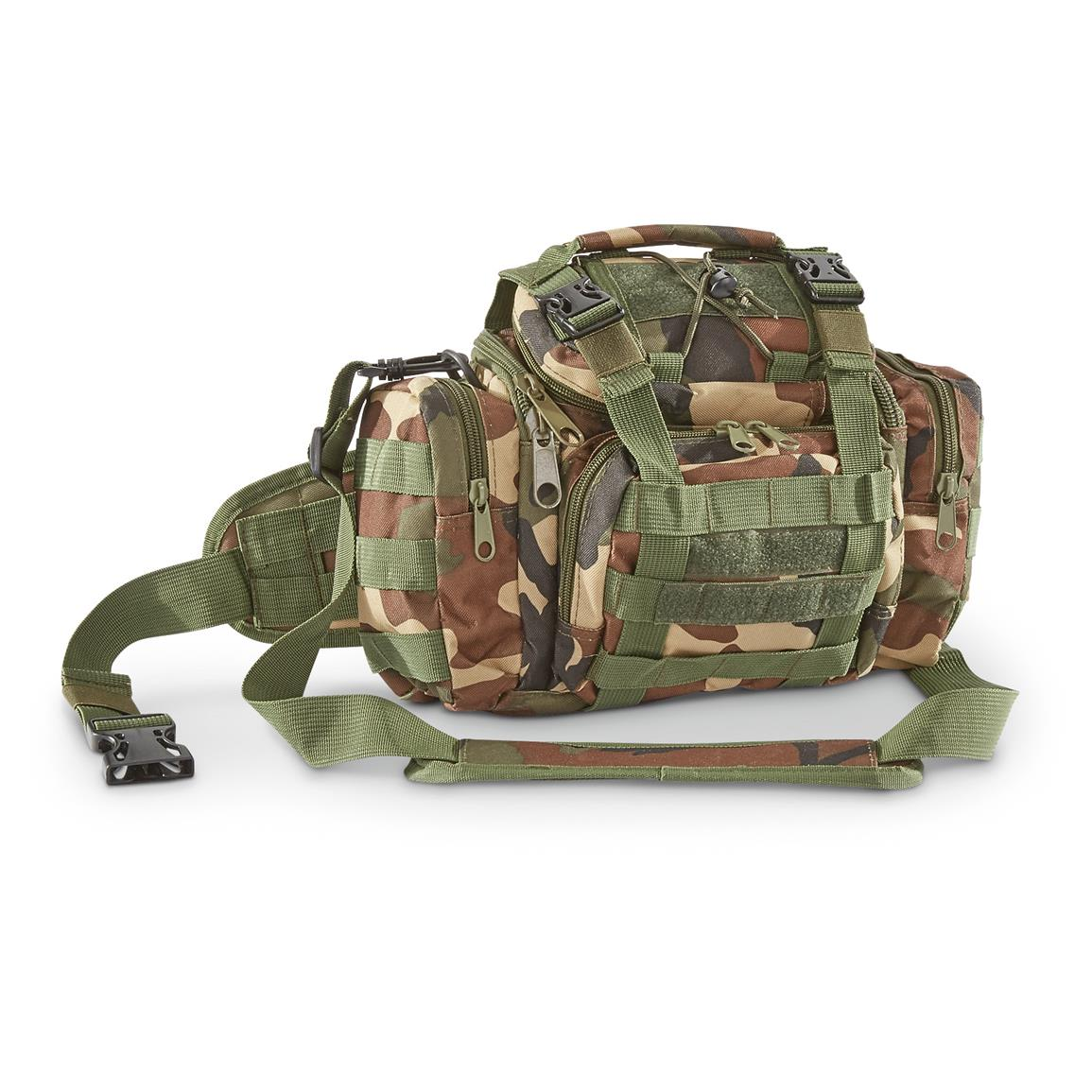 Tactical Shooter's Shoulder Bag, Woodland
