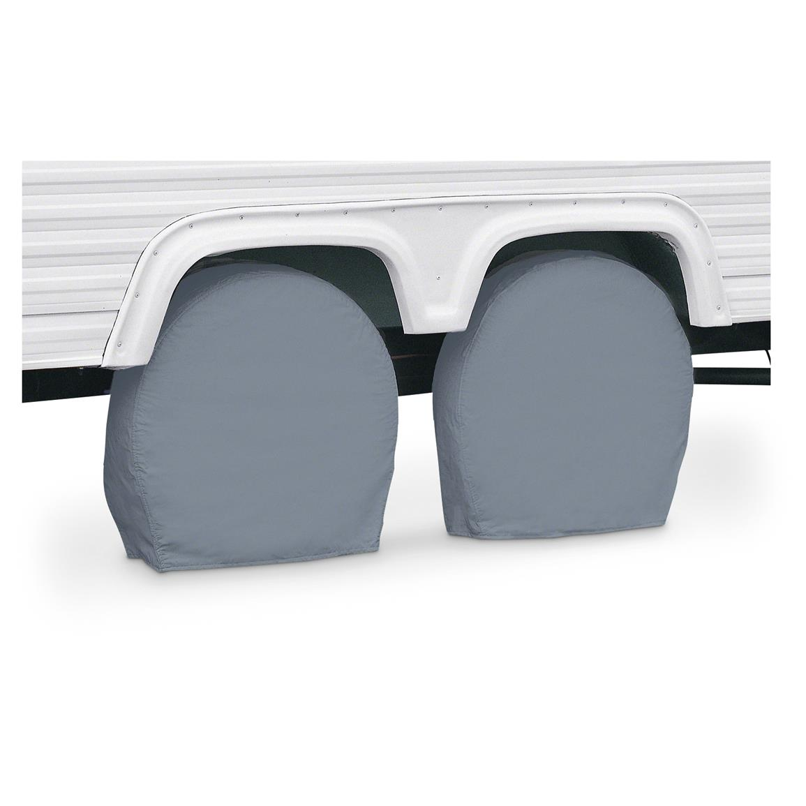 Classic Accessories RV Wheel Covers, 2 Pack, Gray