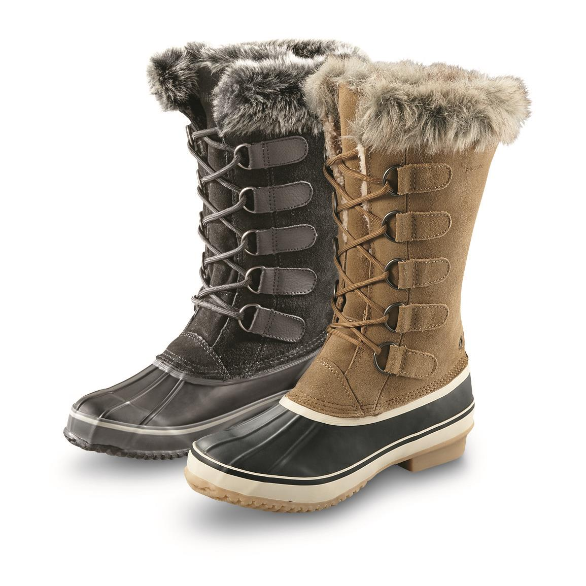 Northside Women's Kathmandu Insulated Waterproof Winter Boots, 200 Grams in Onyx and Honey