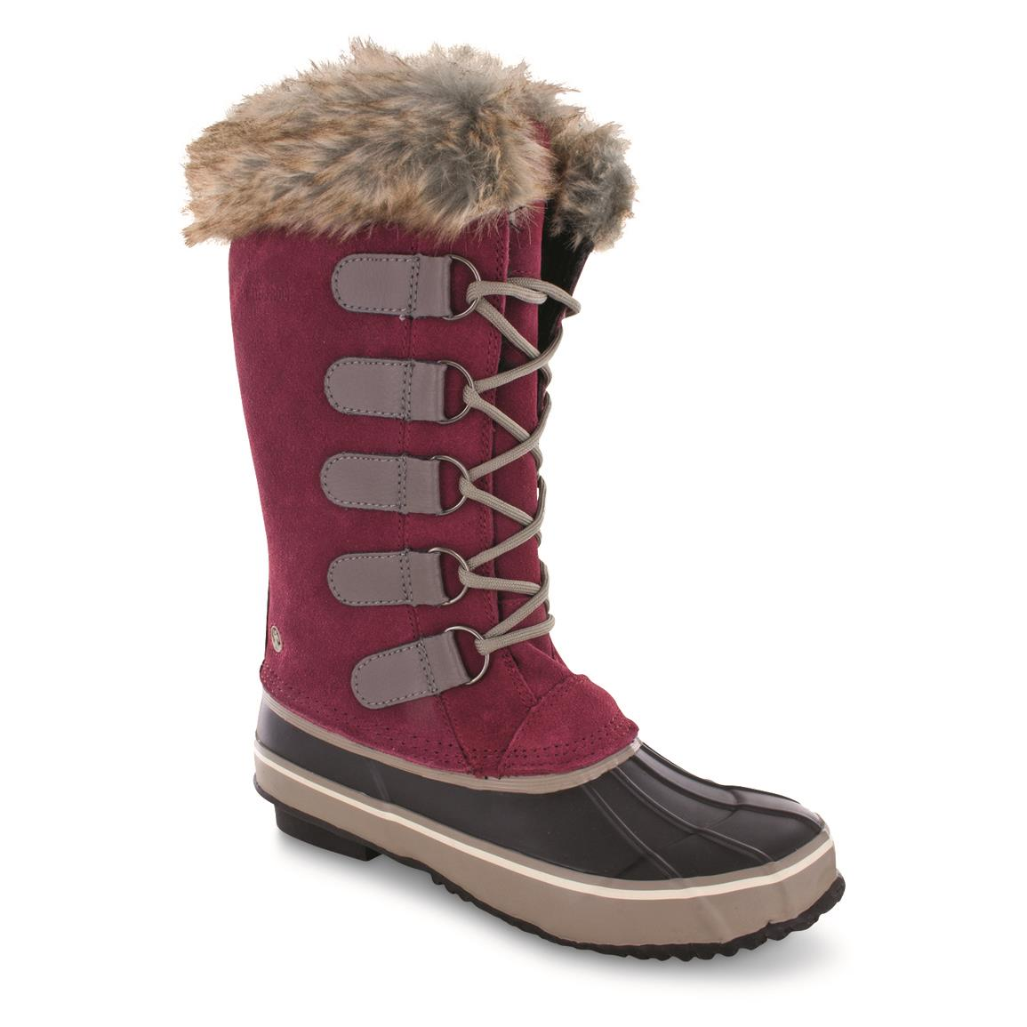 Northside Women's Kathmandu Insulated Waterproof Winter Boots, 200 Grams, Marsala