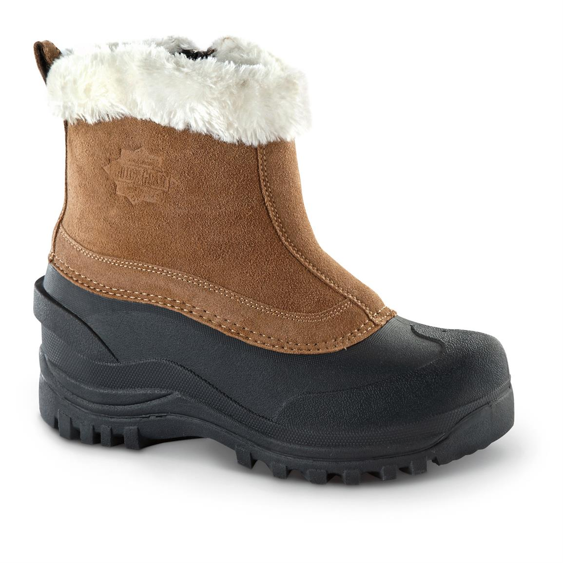 Guide Gear Women's Insulated Side-Zip Winter Boots, 400 Grams, Wool Collar