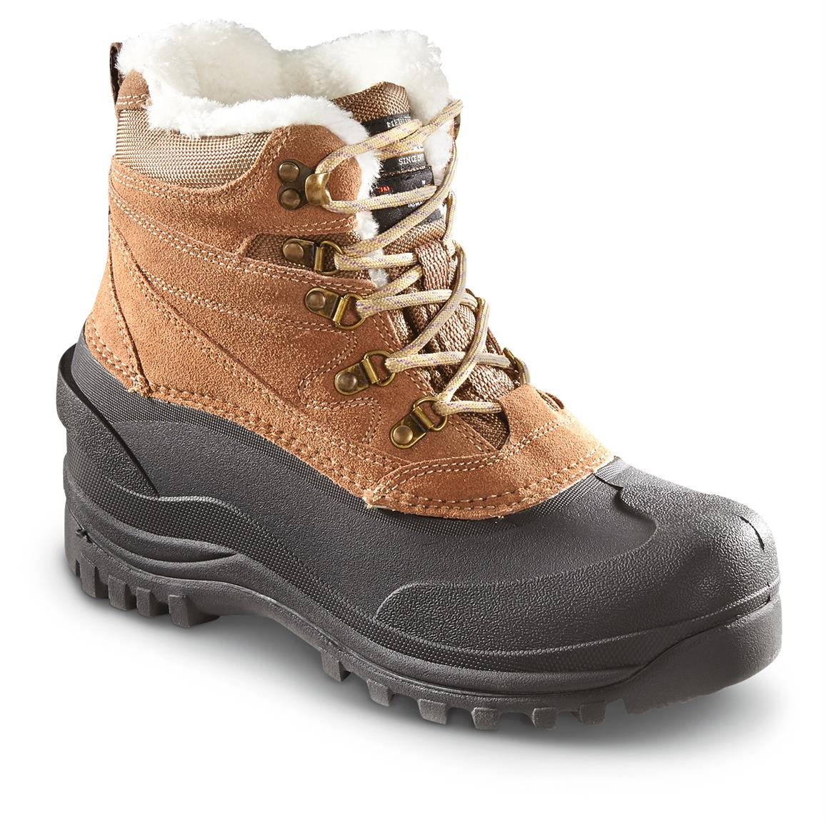 Guide Gear Women's Insulated Lace-up Winter Boots, 400 Grams, Brown