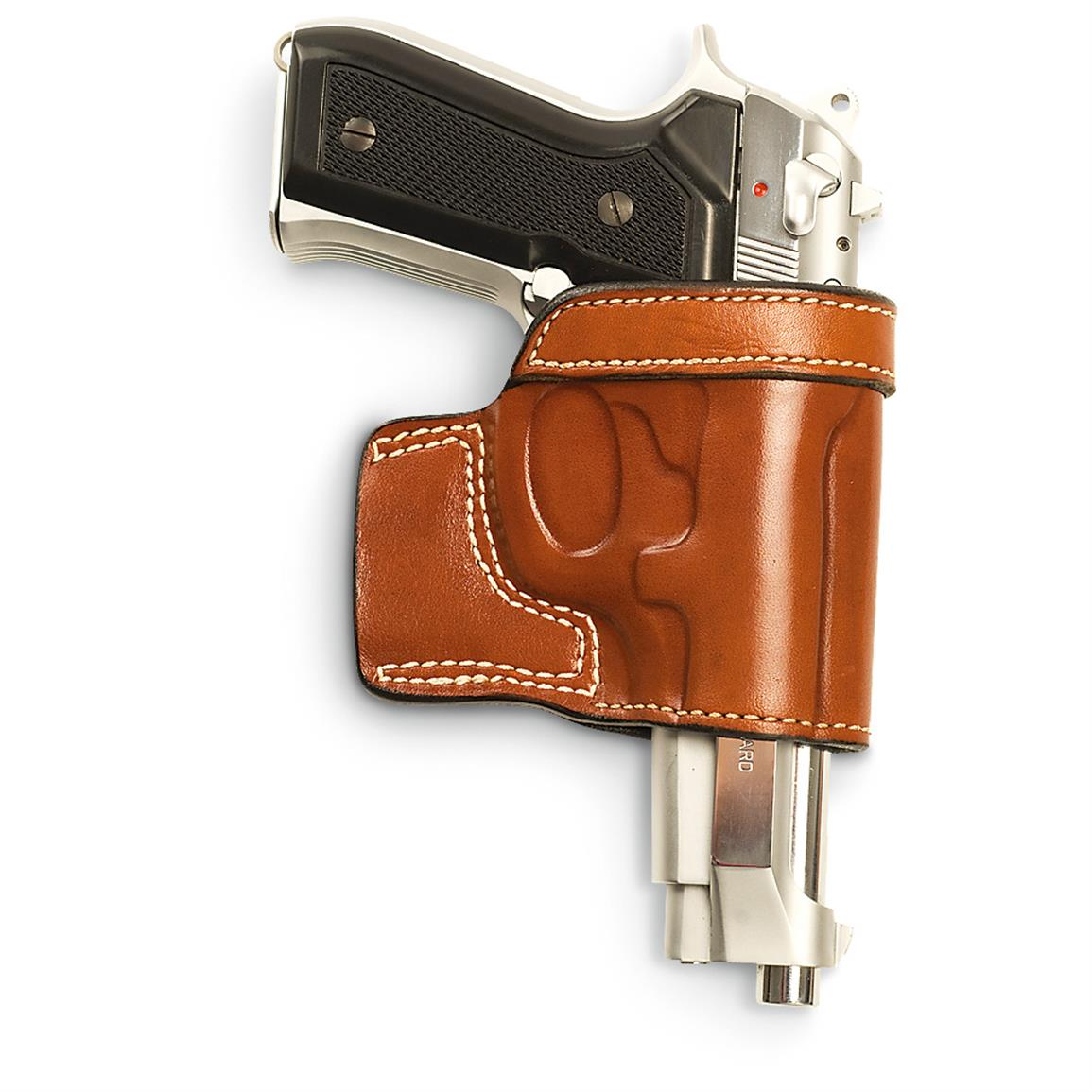 Cebeci Arms® Beretta® 92F, Taurus PT92 / PT99 Leather Speed Holster, Tan
