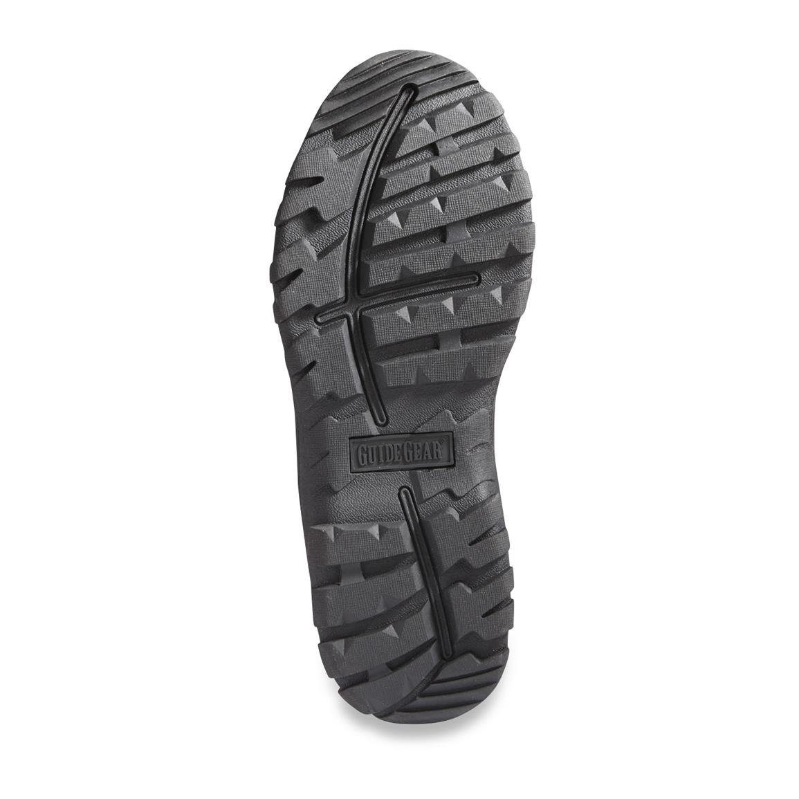 Rugged TPR outsole digs into difficult terrain