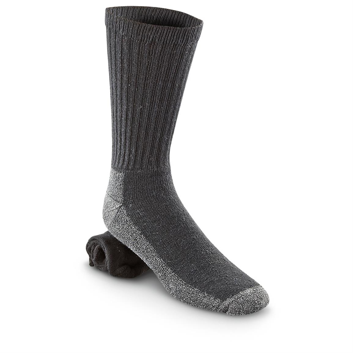 3-Pk. Wigwam® At Work Crew Socks, Black