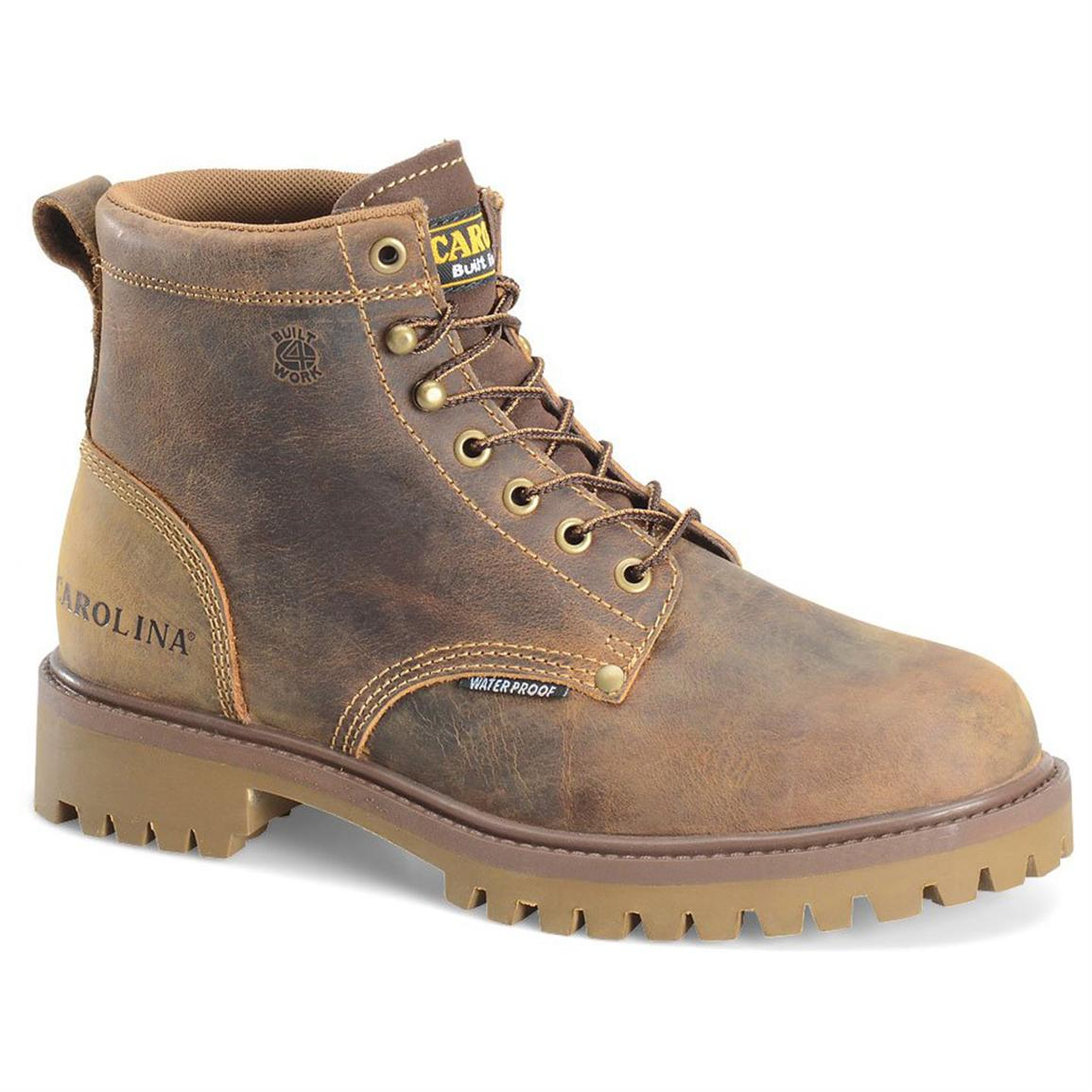 Men's Carolina Waterproof Work Boots, Old Town Folklore