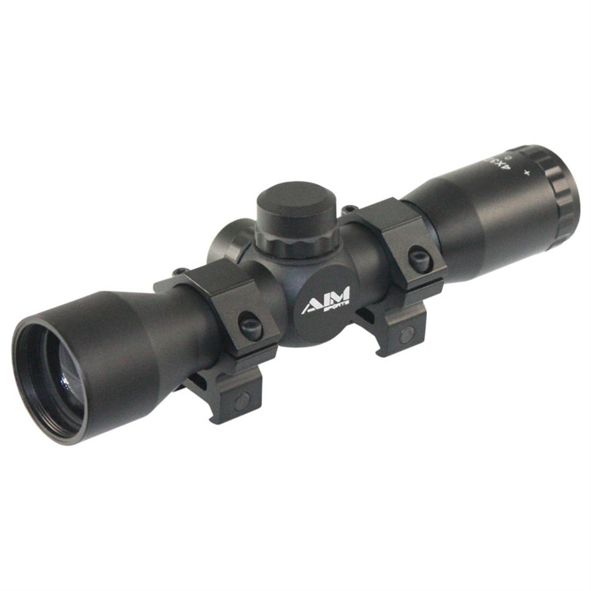 AIM Sports® 4x32mm Compact Scope with Mil-Dot Reticle