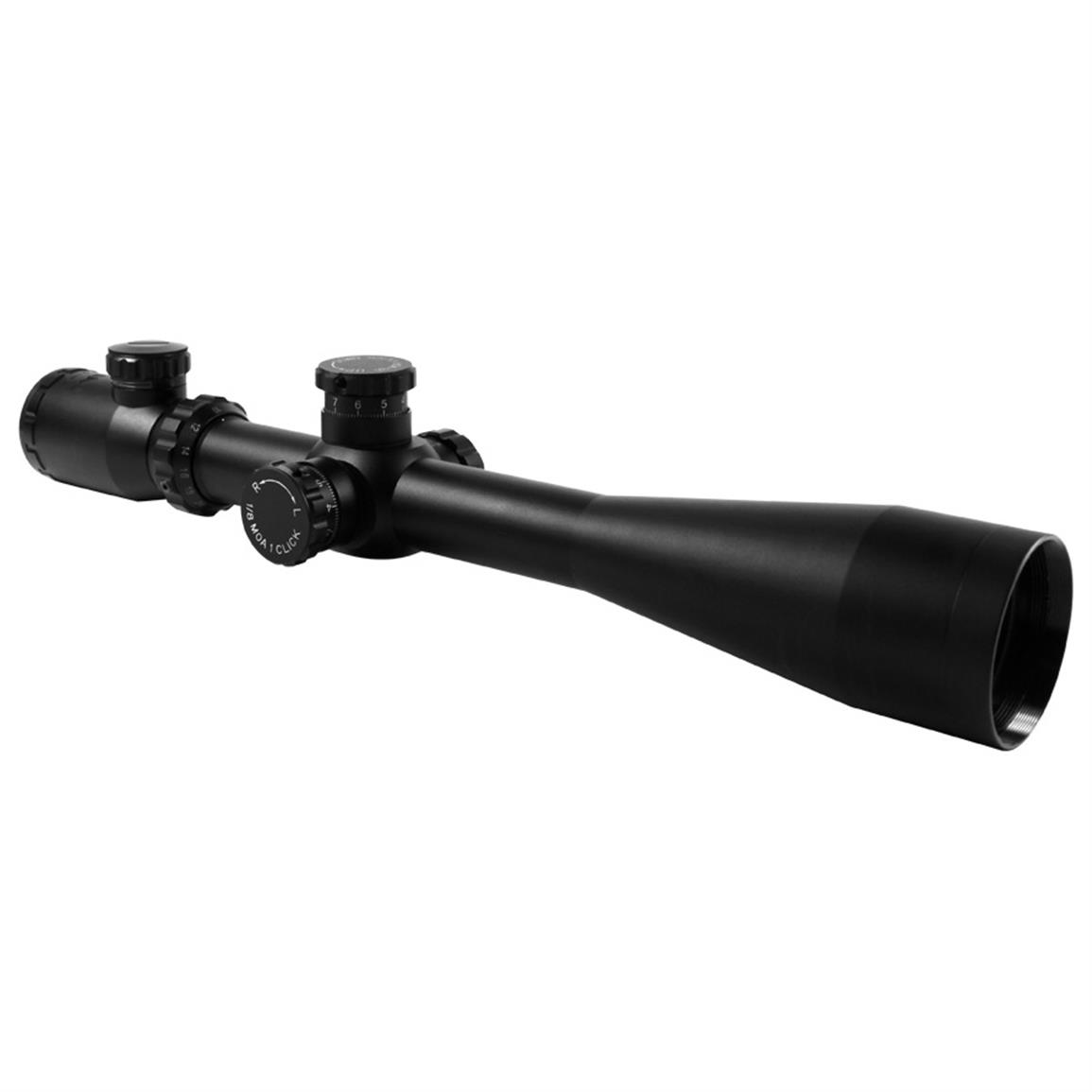 AIM Sports® 10-40x50mm Dual-Illuminated Rifle Scope with Side Parallax, Mil-Dot Reticle