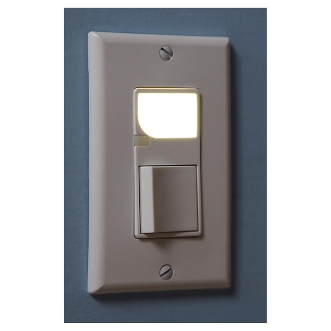 2 Pk Of Leviton Switches With Led Night Lights White