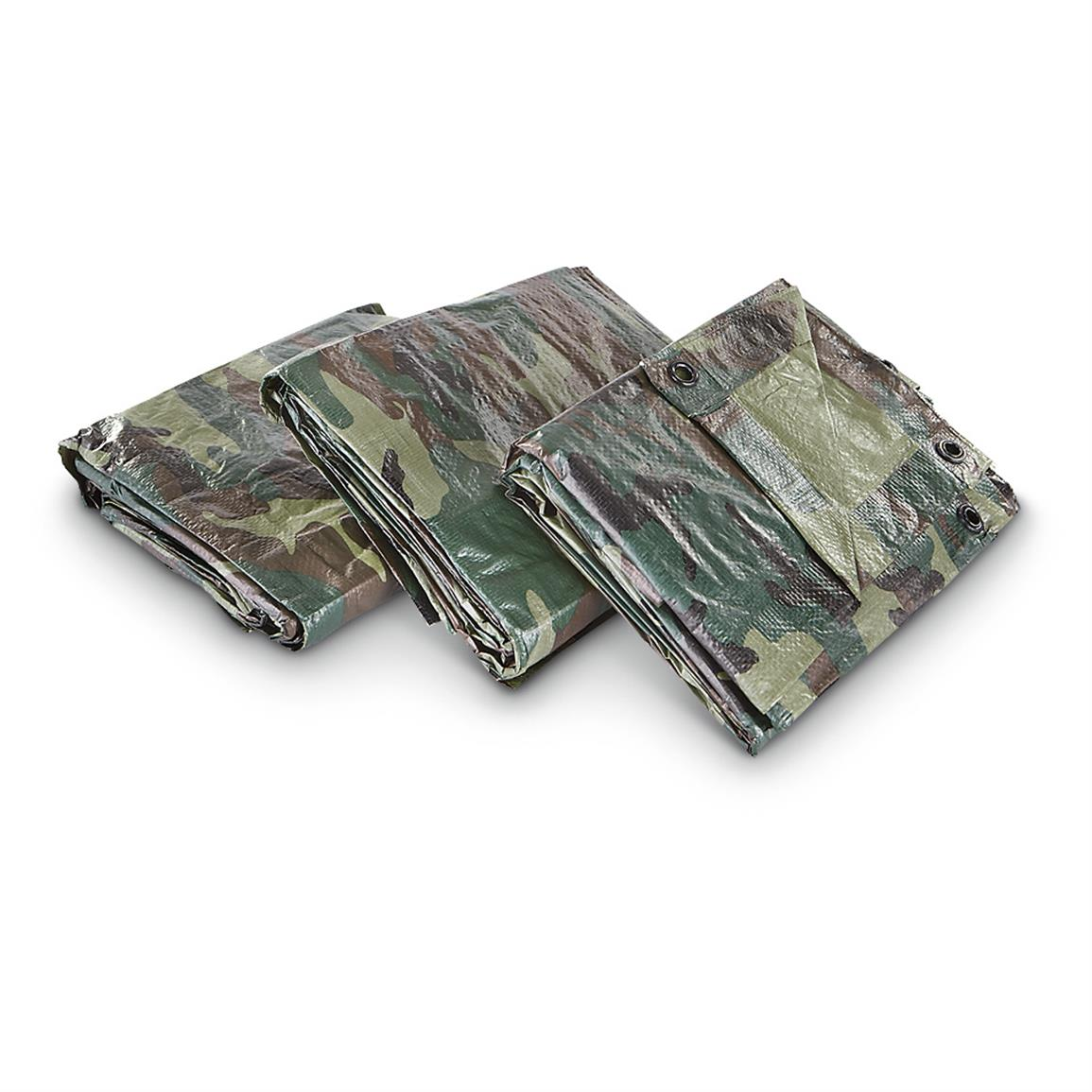 3-Pk. UST™ 10x16 foot Camouflage Tarps