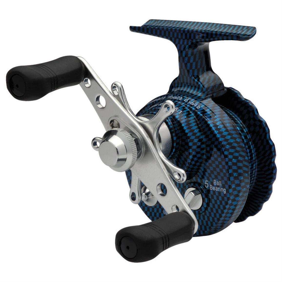 Eagle claw blue inline ice reel 613971 ice fishing rods for Best ice fishing reel