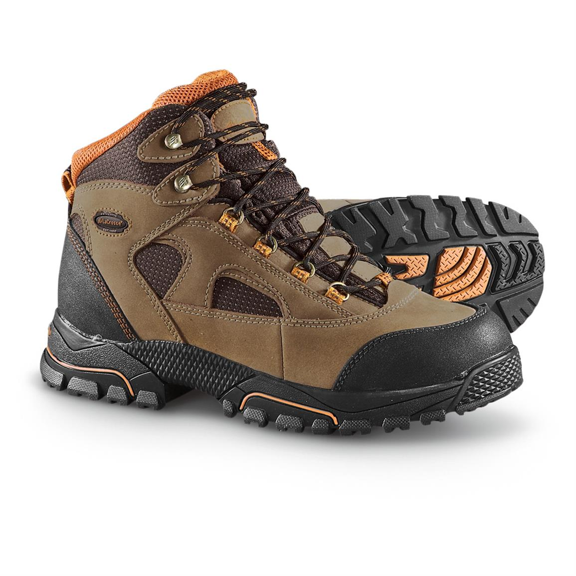 Men's Lacrosse® Steel Toe Work Boots, Brown