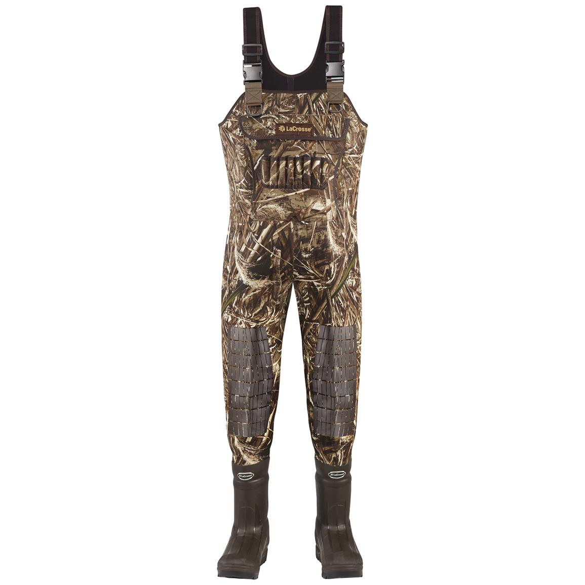 Men's Lacrosse 1,600 Gram Thinsulate Ultra Swamp Tuff Pro Waders, Realtree MAX-5® Camo - Front view