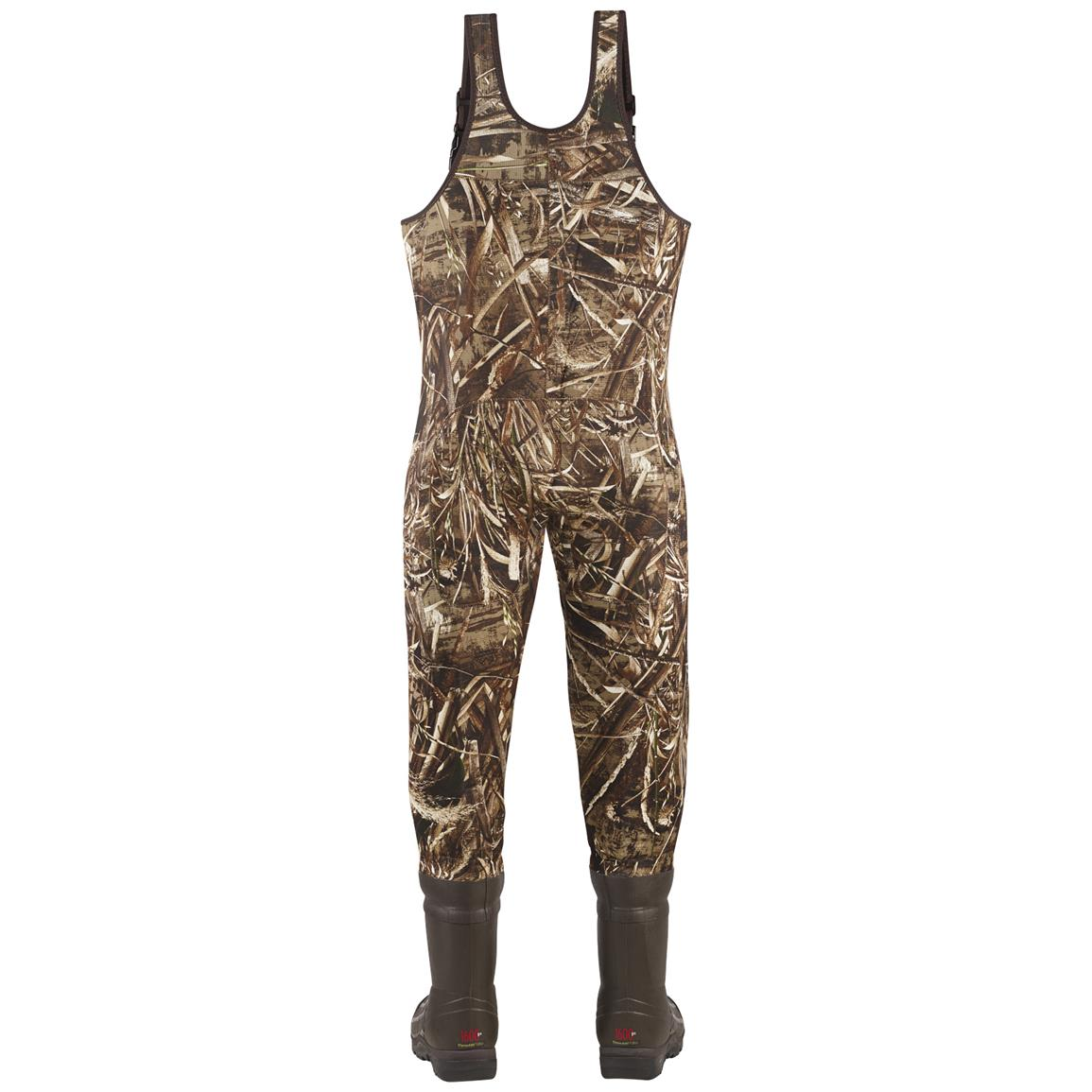 Men's Lacrosse 1,600 Gram Thinsulate Ultra Swamp Tuff Pro Waders, Realtree MAX-5® Camo - Back view