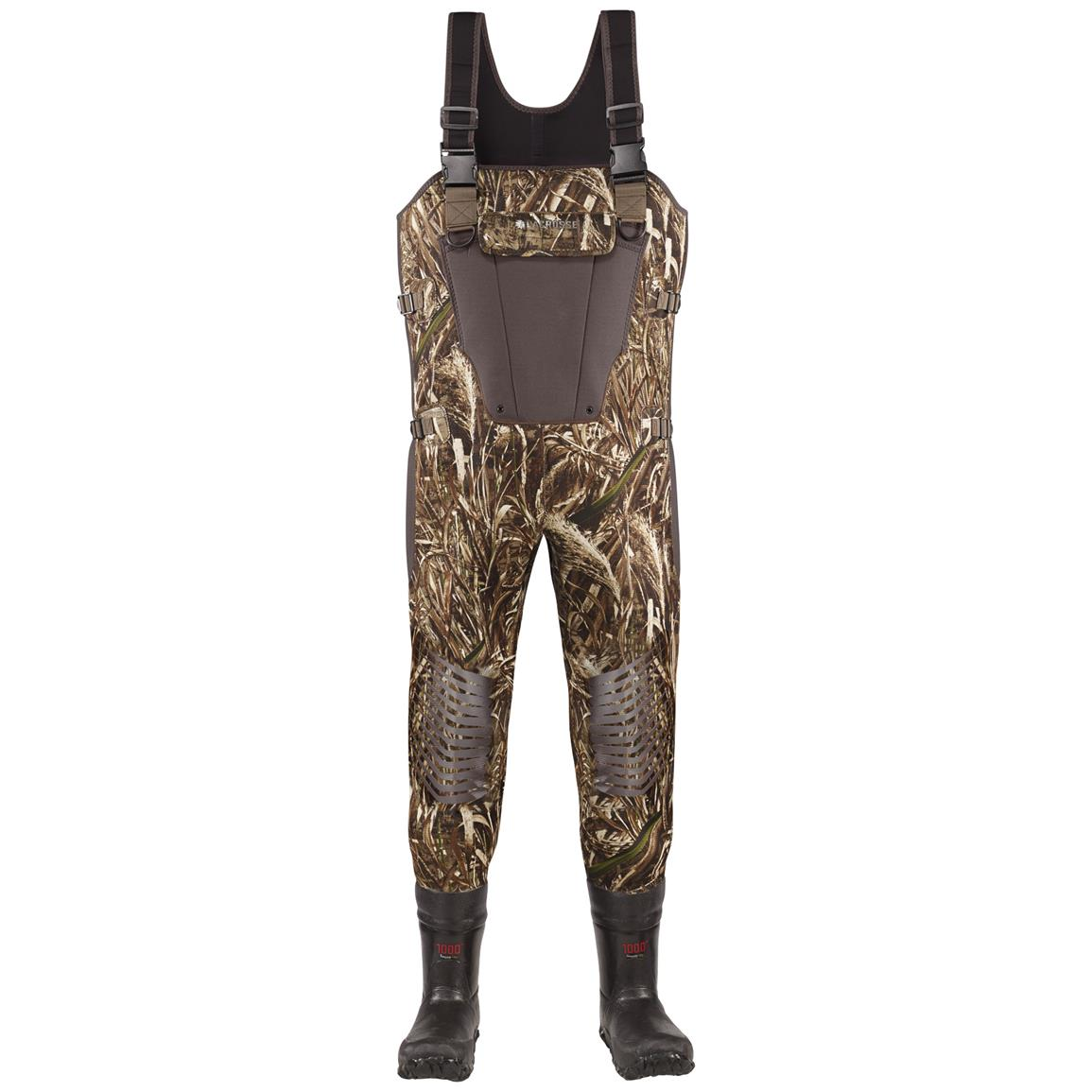 Men's Lacrosse 1,000 Gram Thinsulate Ultra Mallard II Expandable Waders, Realtree MAX-5® Camo - Front view