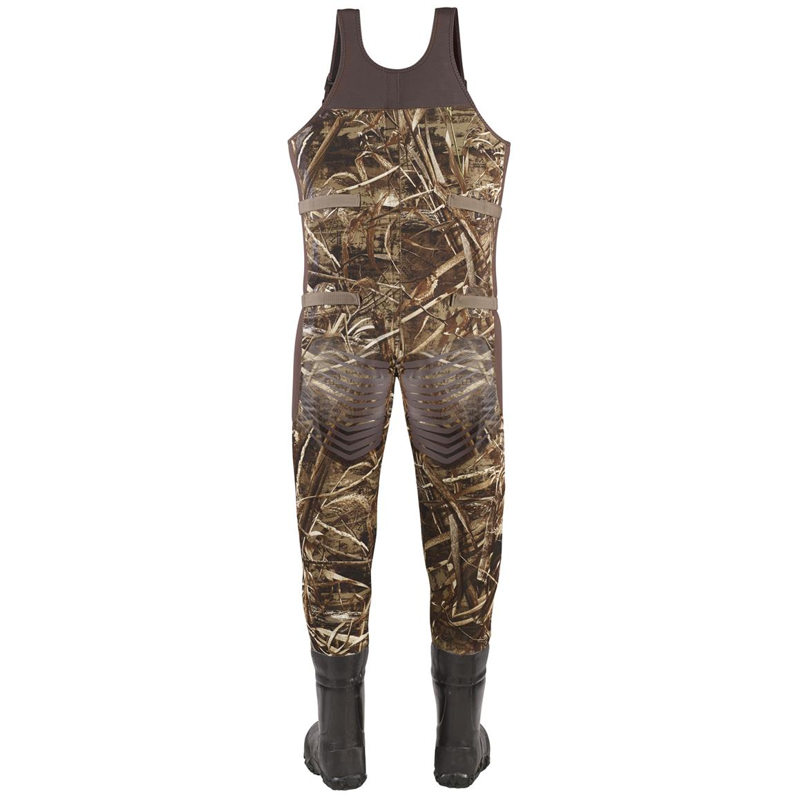 Men's Lacrosse 1,000 Gram Thinsulate Ultra Mallard II Expandable Waders, Realtree MAX-5® Camo - Back view