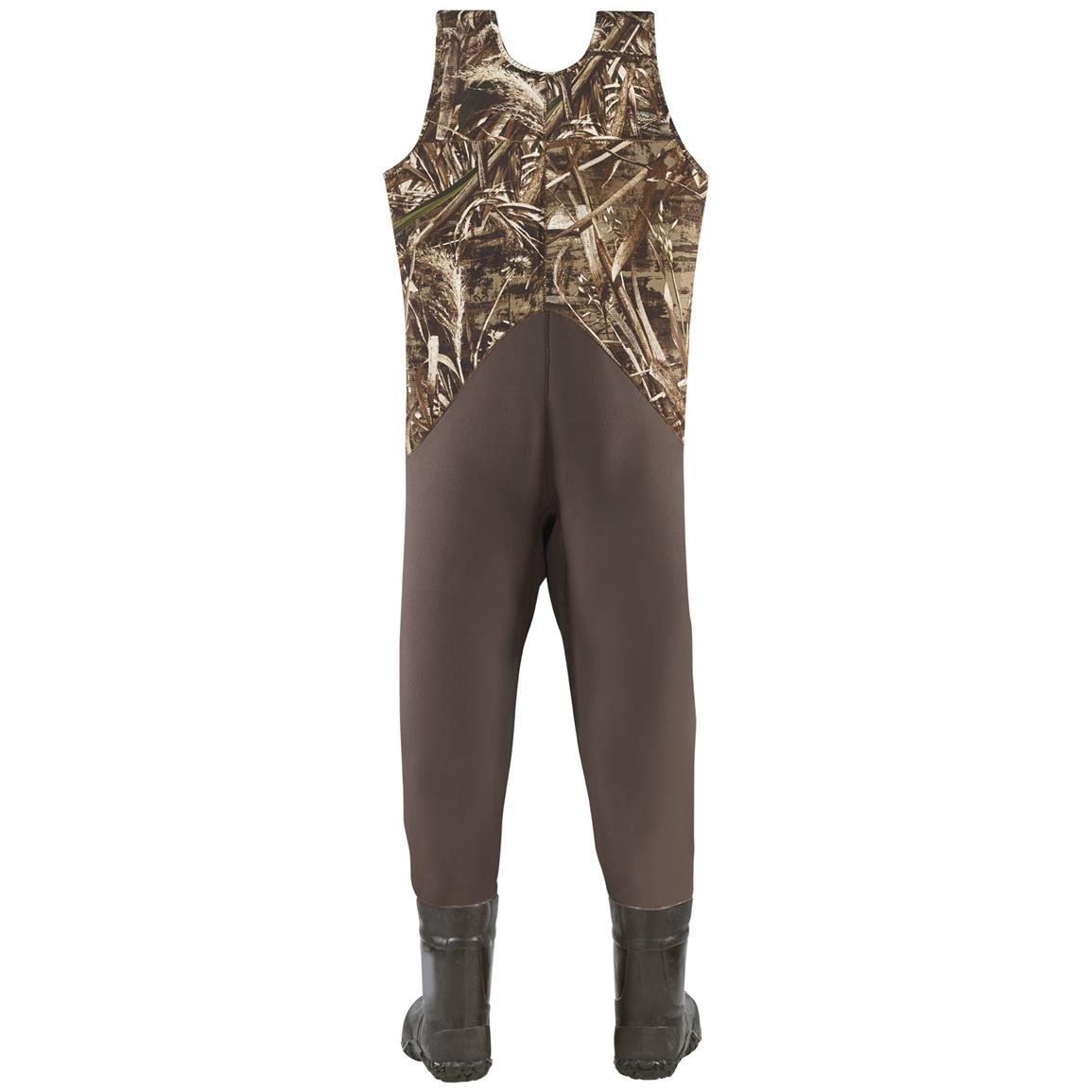 Men's Lacrosse 600 Gram Thinsulate Ultra Teal II Waders, Realtree MAX-5 Camo - Back view