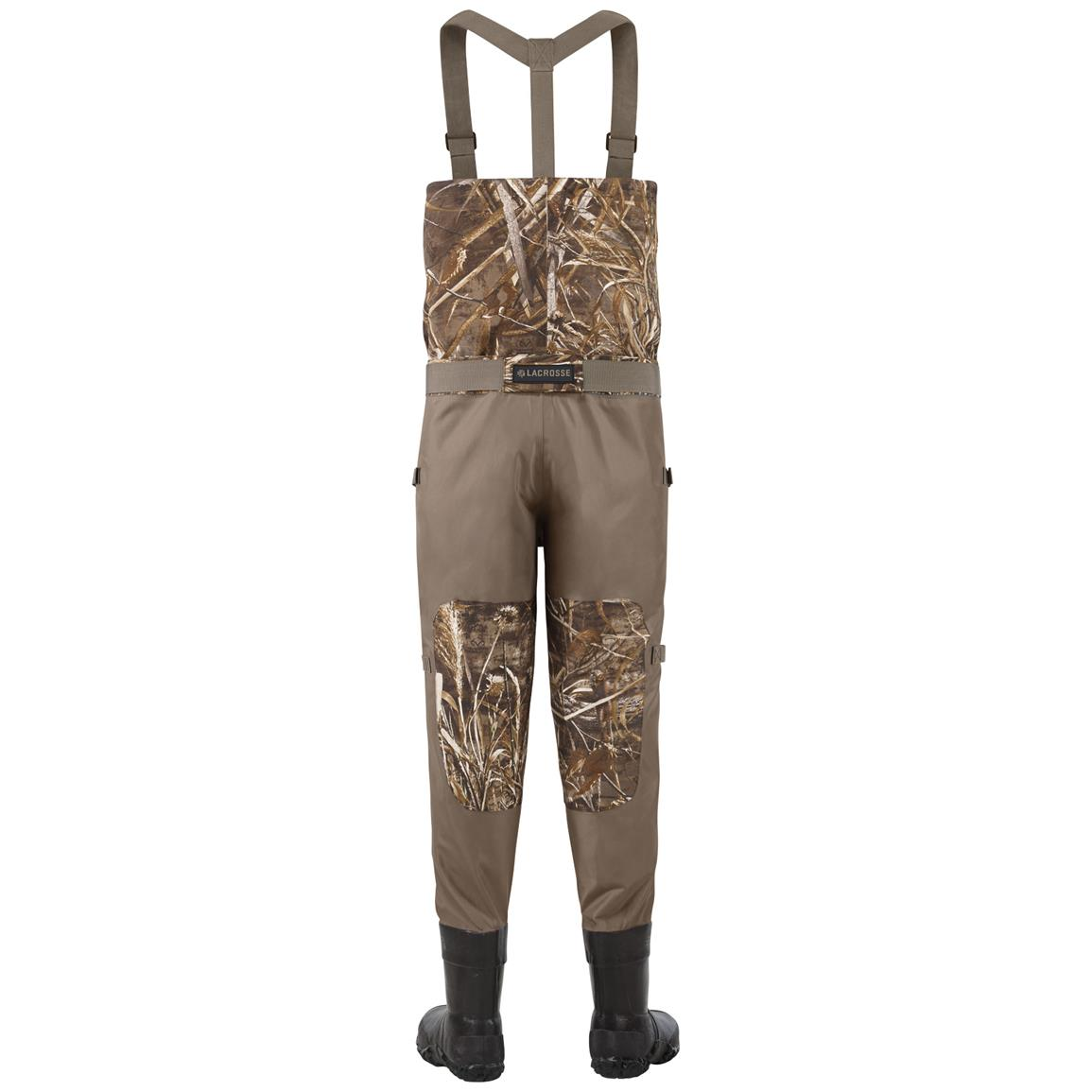 Men's Lacrosse 600 gram Thinsulate Ultra Alpha Swampfox Drop Top Waders - Back view
