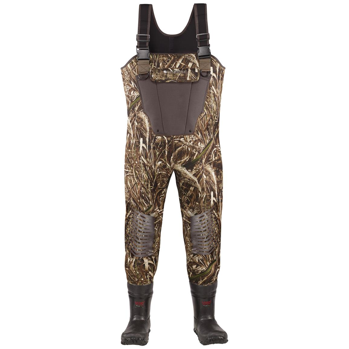 Youth Lacrosse 1,000 Gram Thinsulate Ultra Mallard II Waders, Realtree MAX-5 Camo - Front view