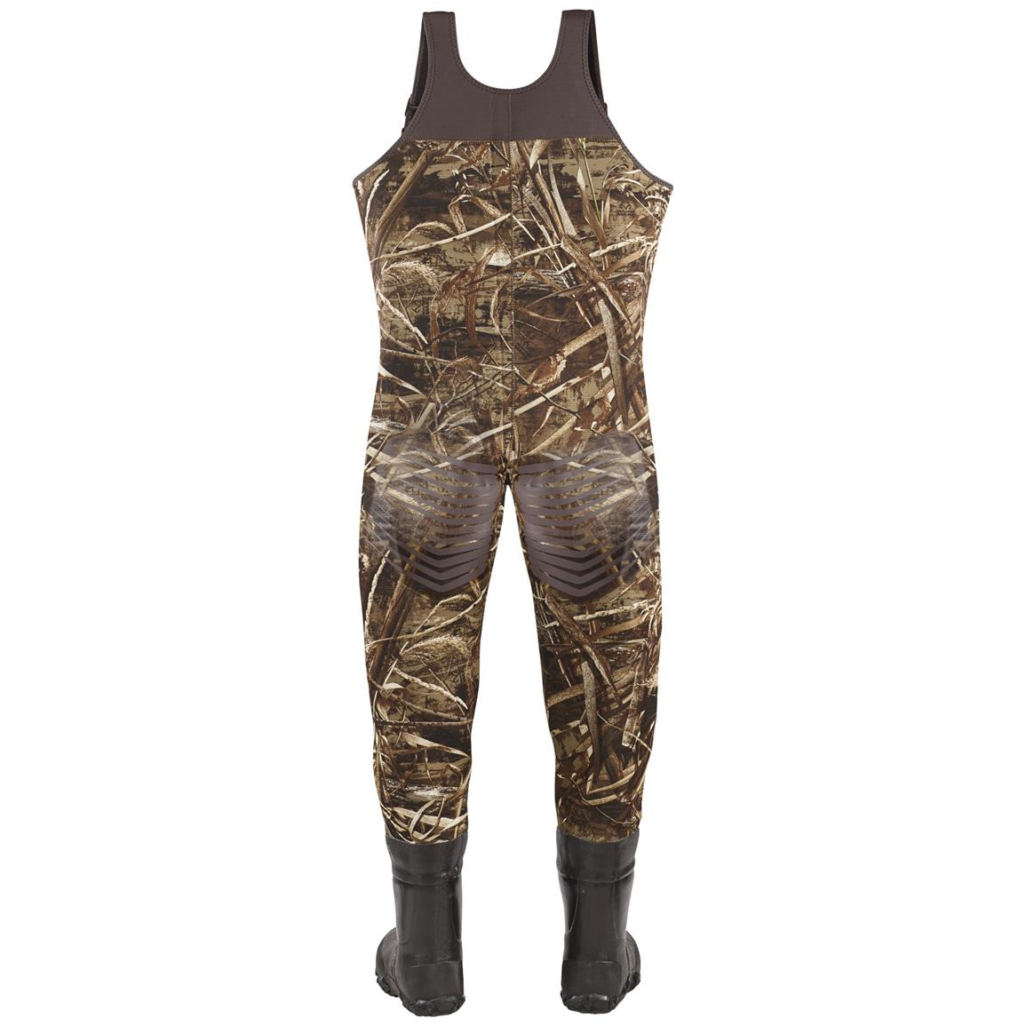 Youth Lacrosse 1,000 Gram Thinsulate Ultra Mallard II Waders, Realtree MAX-5 Camo - Back view