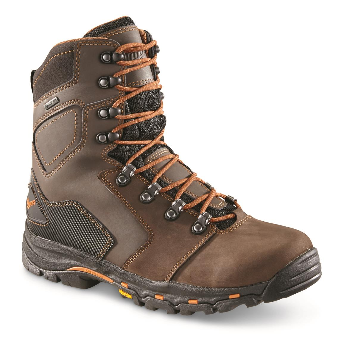 "Danner Men's Vicious Waterproof 8"" Work Boots, GORE-TEX, Brown"