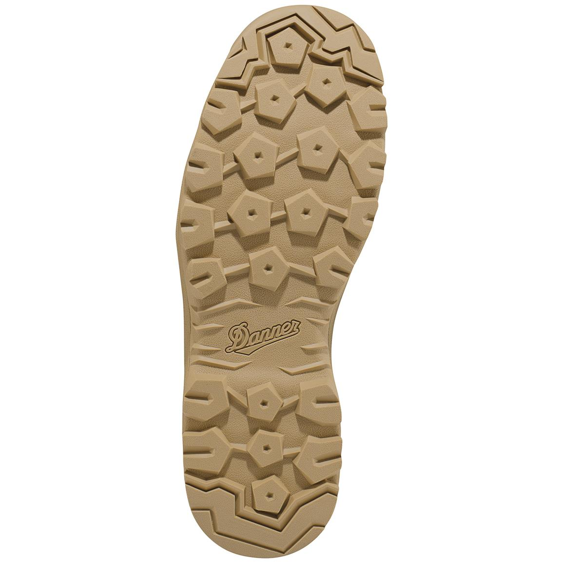 Danner® Tanicus outsole features pentagonal lugs for variety of terrain