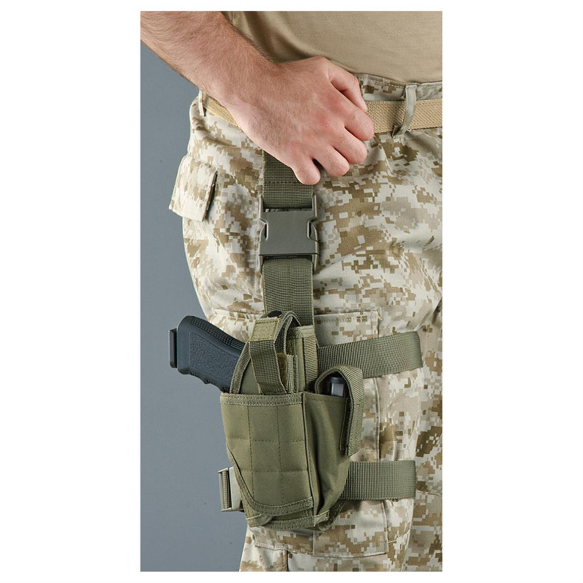 Cactus Jack Drop Leg Holster, Right Hand, Olive Drab