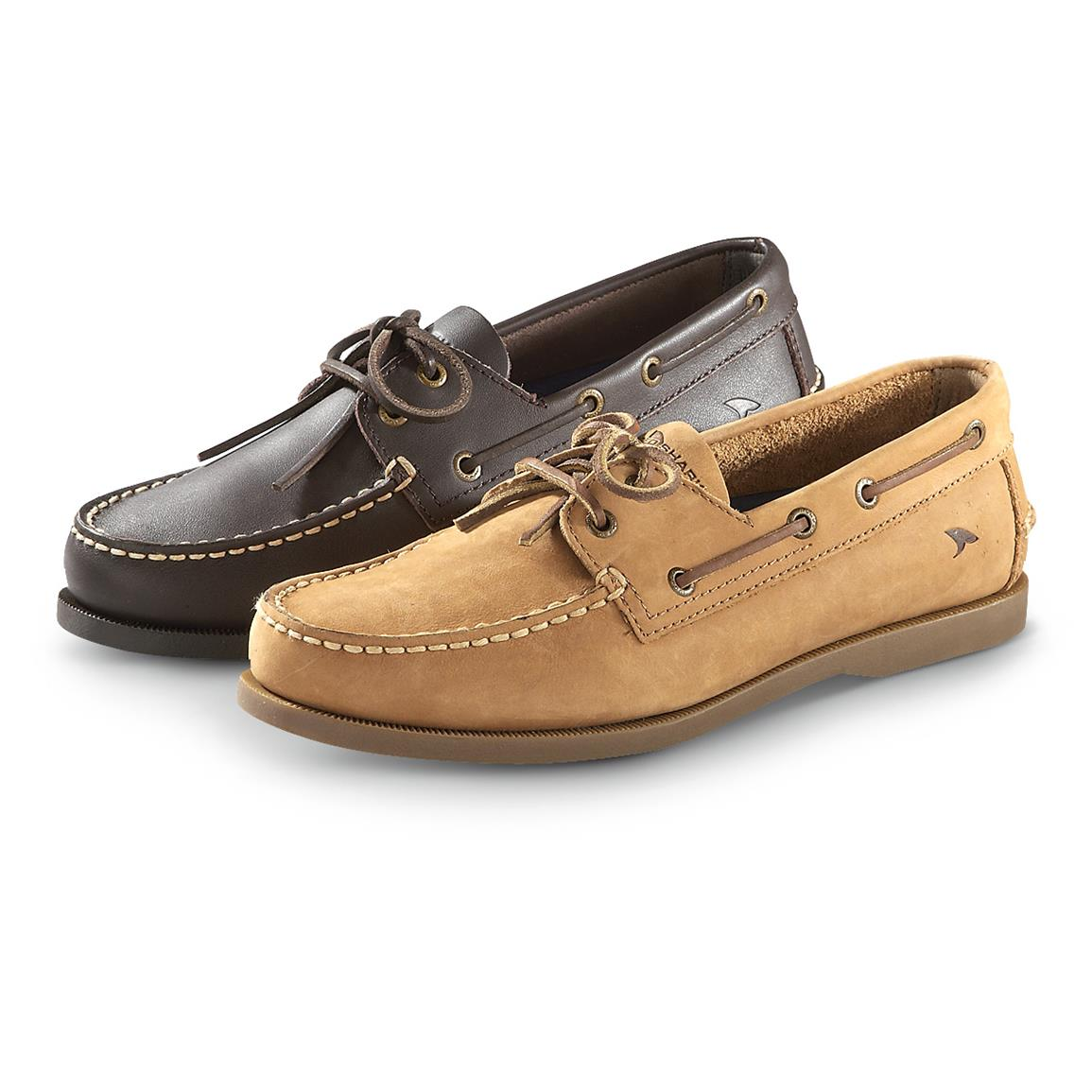Men's Rugged Shark Classic Boat Shoes • Chocolate or Tan