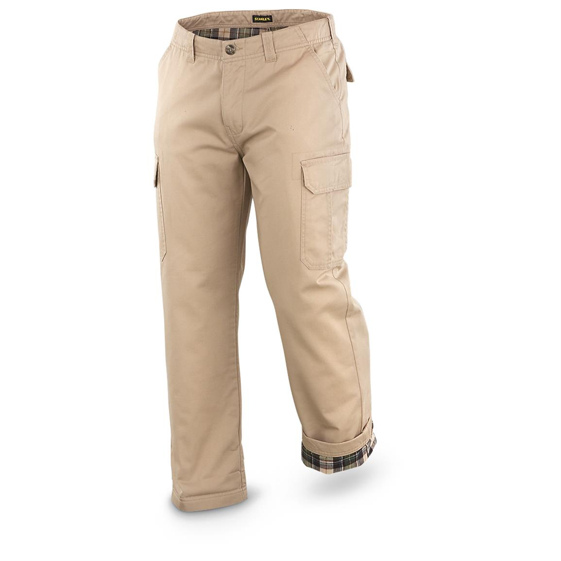 Stanley® Flannel-lined Cargo Pants, Khaki - 616562, Insulated ...