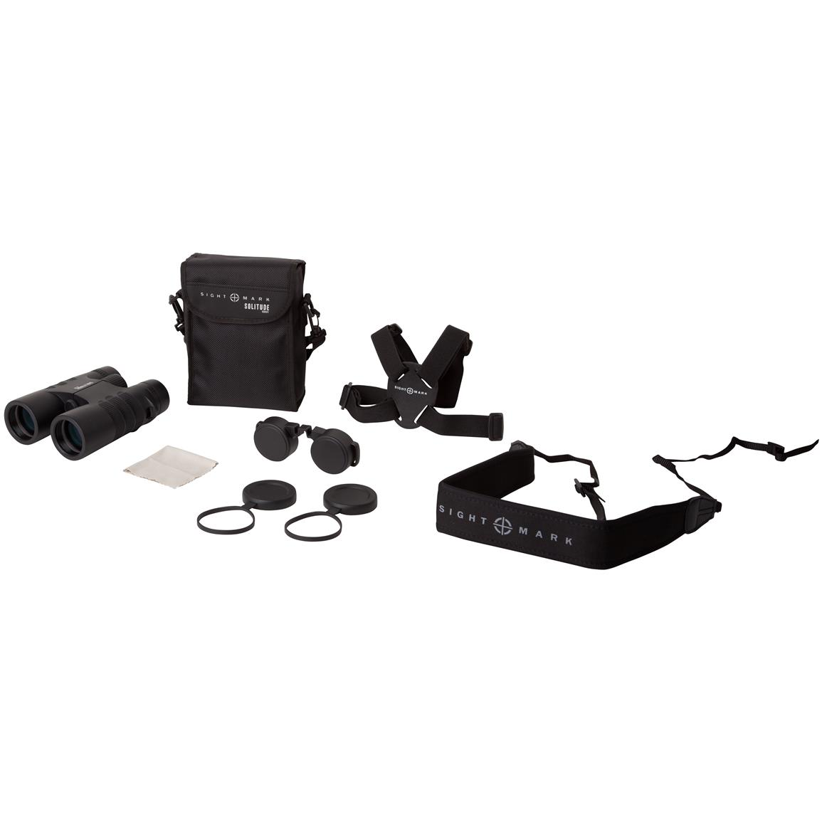 Includes nylon carry case, neck strap, lens cover, and shoulder harness