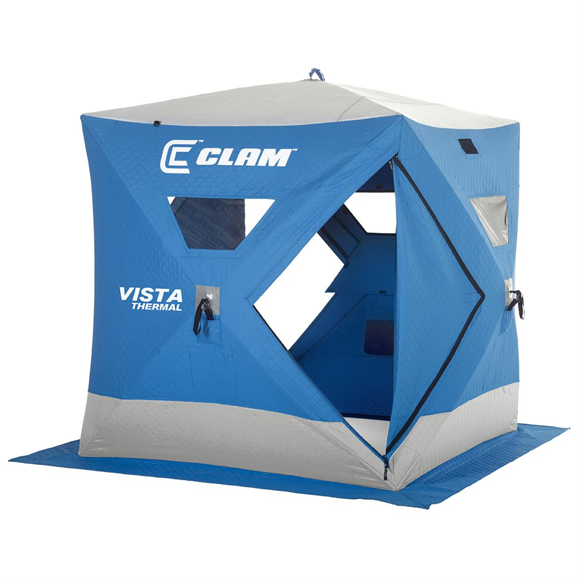 Clam Vista Thermal 2-3 Person Pop-up Ice Shelter
