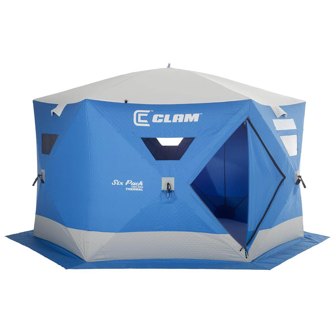 Clam® Six Pack™ 1660 Mag Thermal Ice Shelter