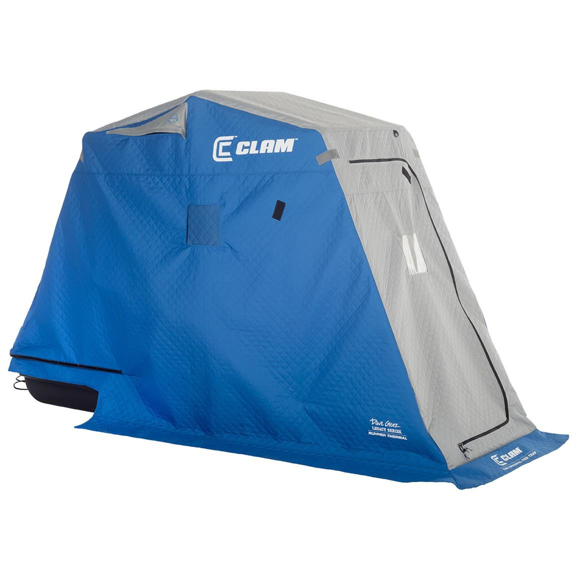 Clam® Runner Thermal Ice Shelter with Travel Cover