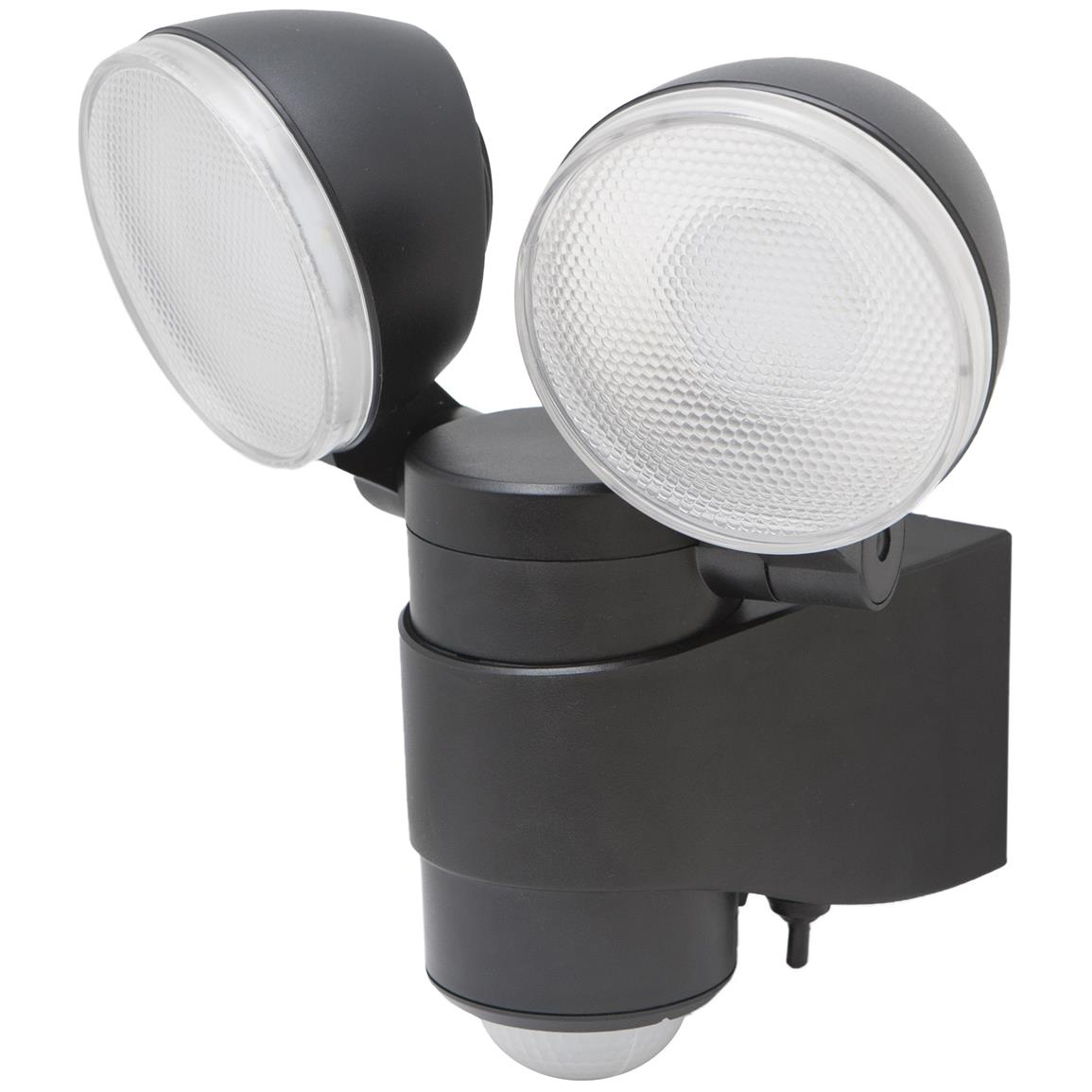 Maxsa Battery-Powered Motion-Activated Dual-Head LED Security Spotlight