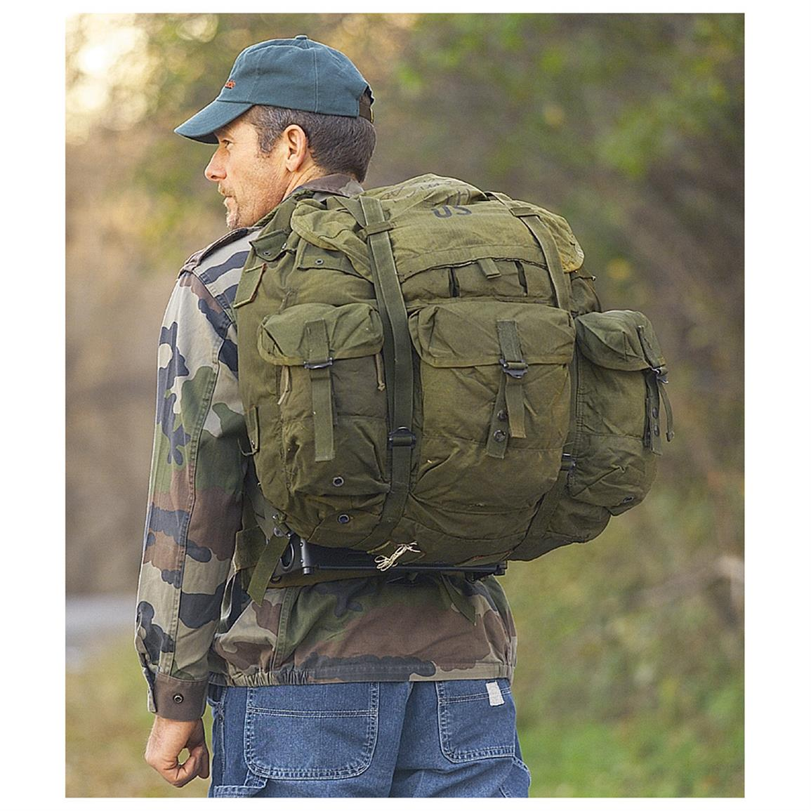 U.S. Military Surplus Large ALICE Pack With Frame, Used
