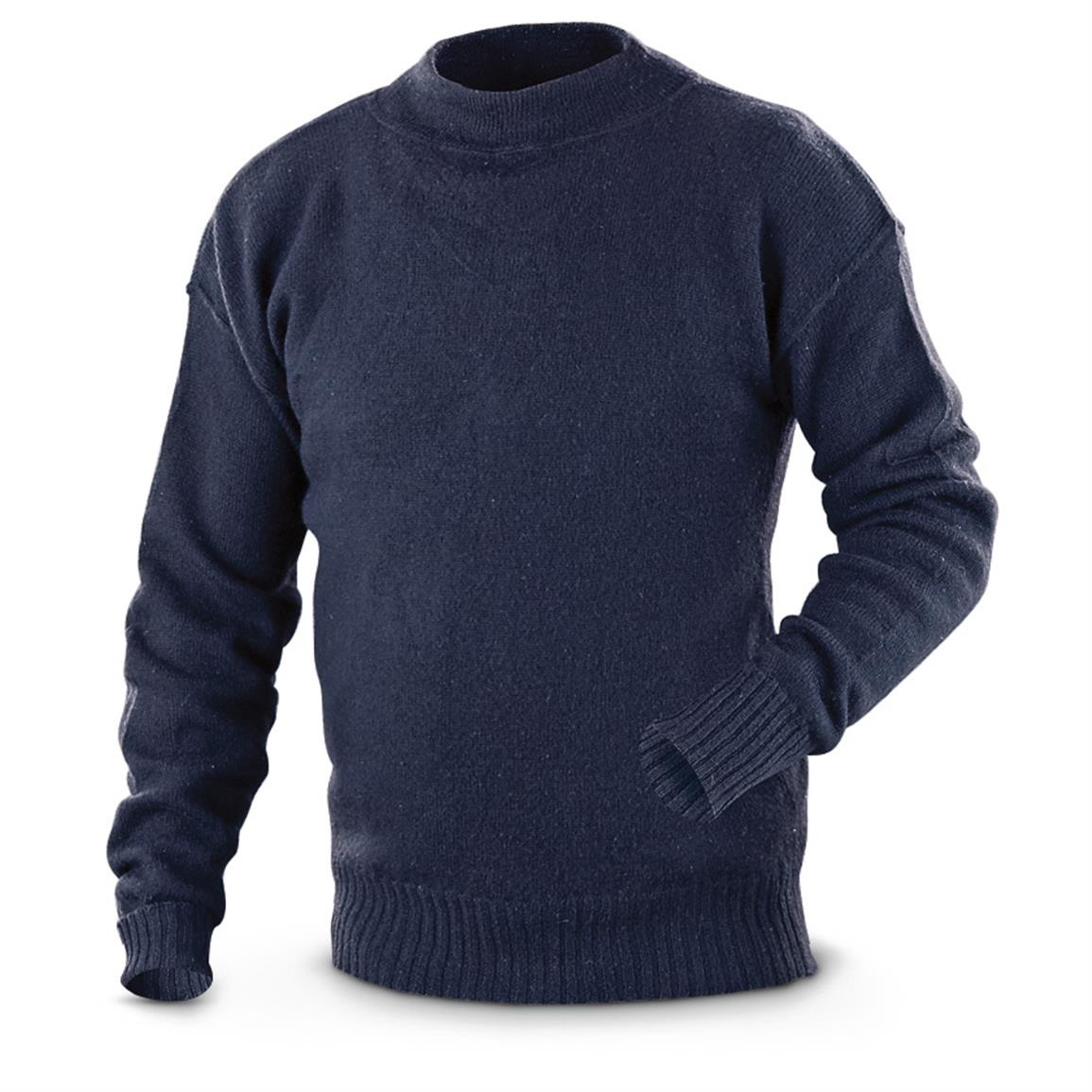 Used U.S. Military Surplus Wool Sweater - 619360, Sweaters at ...