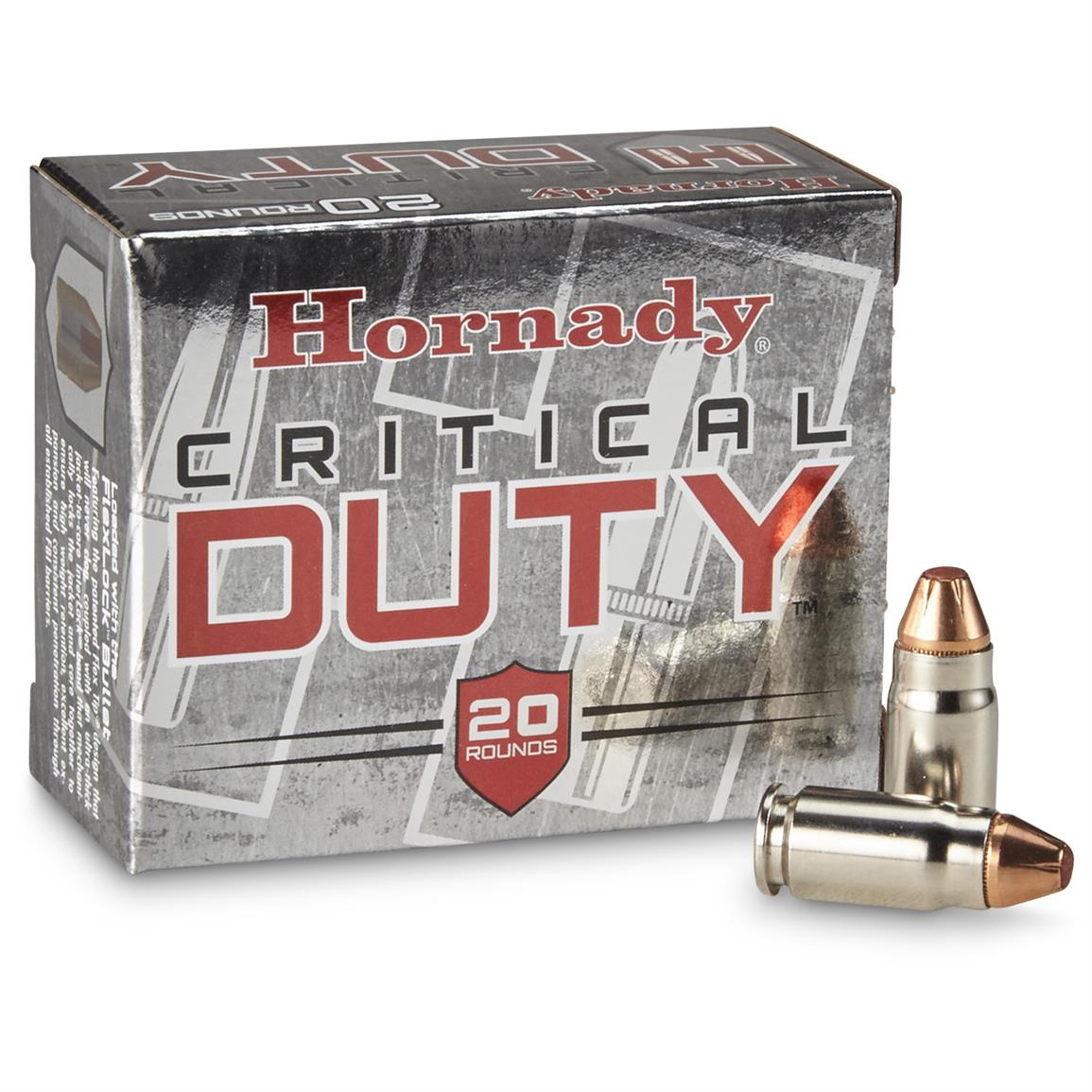 20 rounds of Hornady Critical Duty .357 Sig 135 Grain Flexlock Ammo