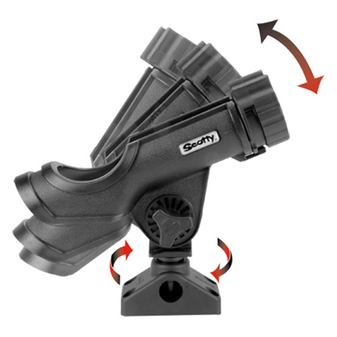 Scotty® 230-BK Powerlock Rod Holder with Combination Side  / Deck Mount