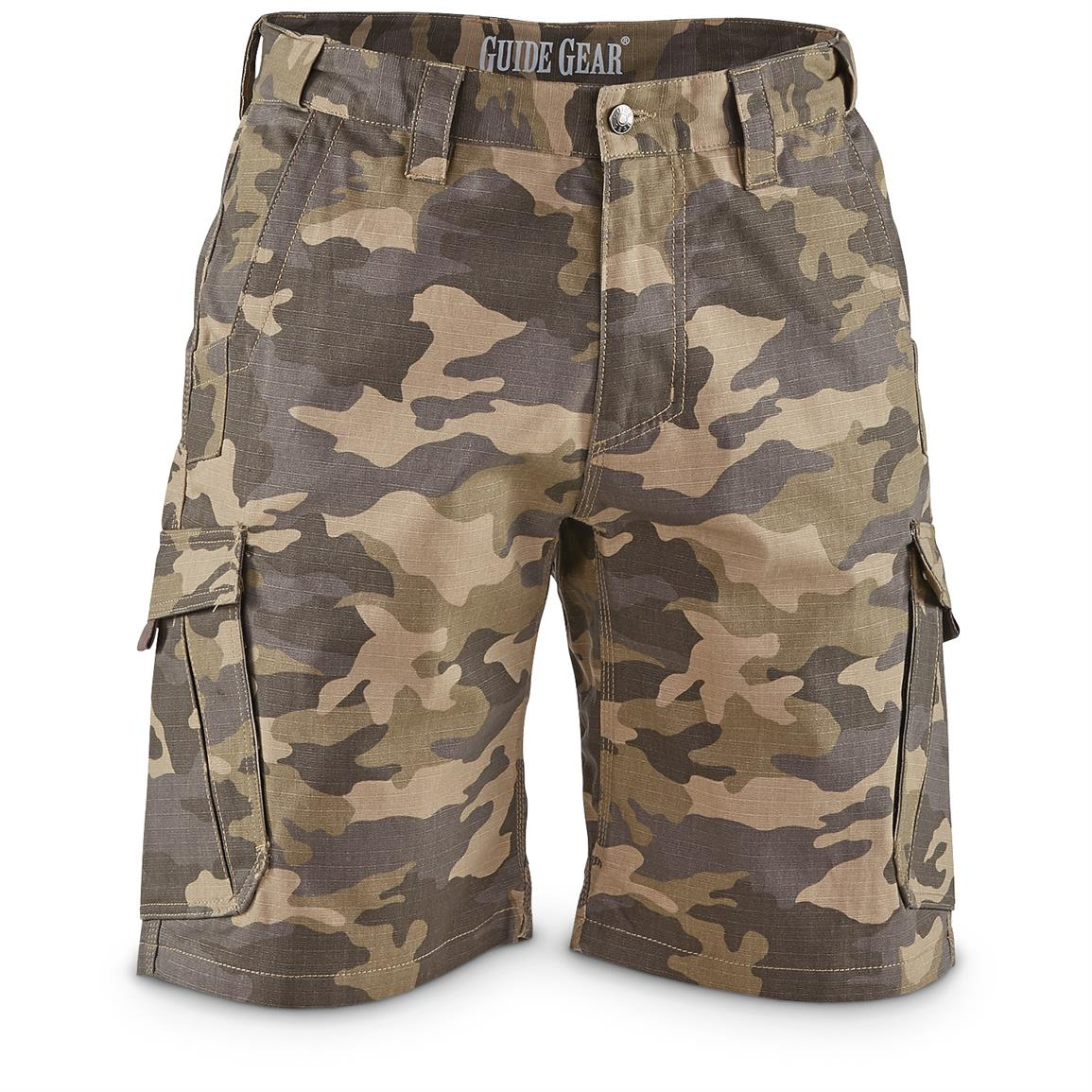 Guide Gear Men's Ripstop Cargo Shorts, Desert Camo