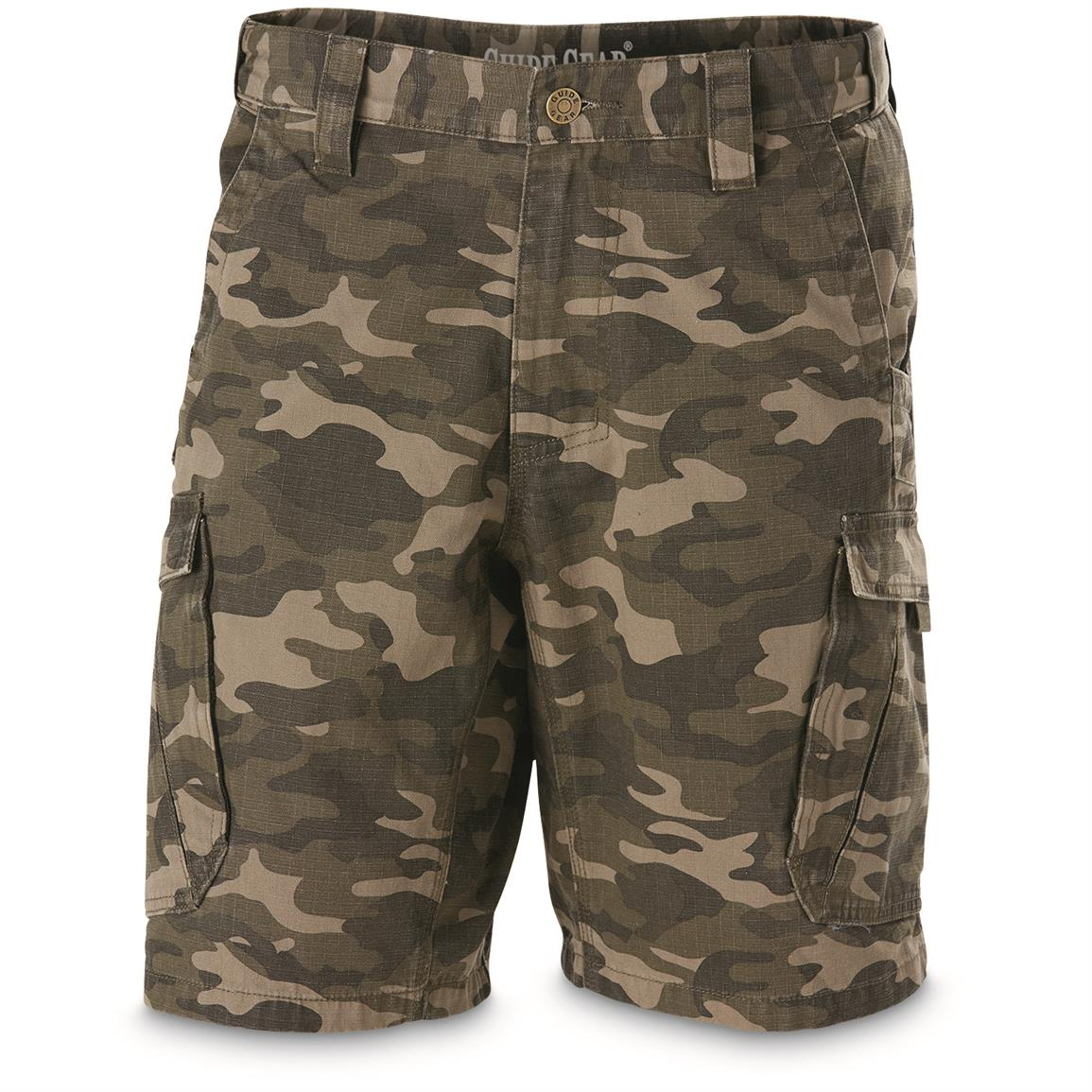 Guide Gear Men's Ripstop Cargo Shorts, Camo