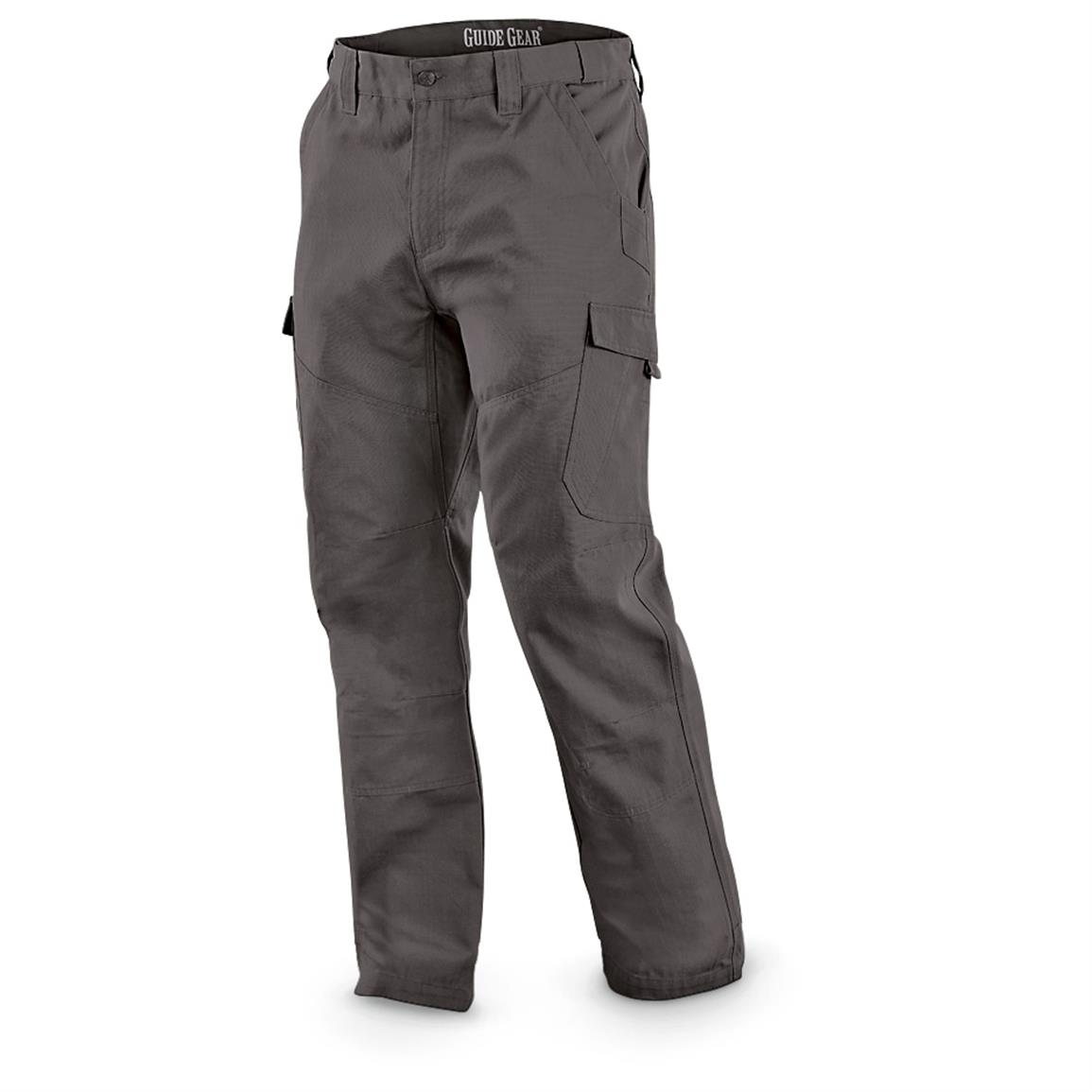 Guide Gear Men's Ripstop Cargo Work Pants, Graphite Gray