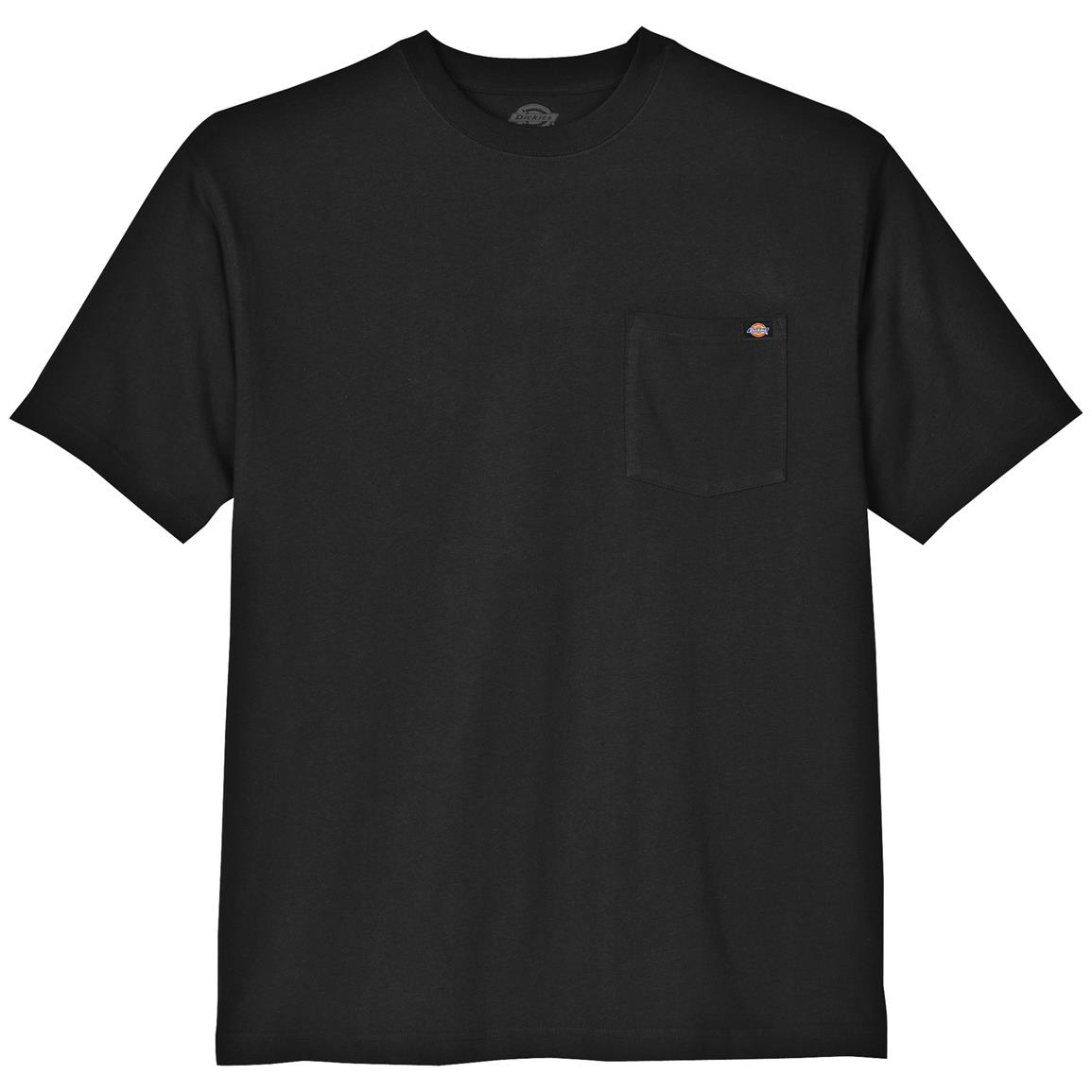 Dickies® Short-sleeved Heavyweight Crew Neck T-shirt, Black