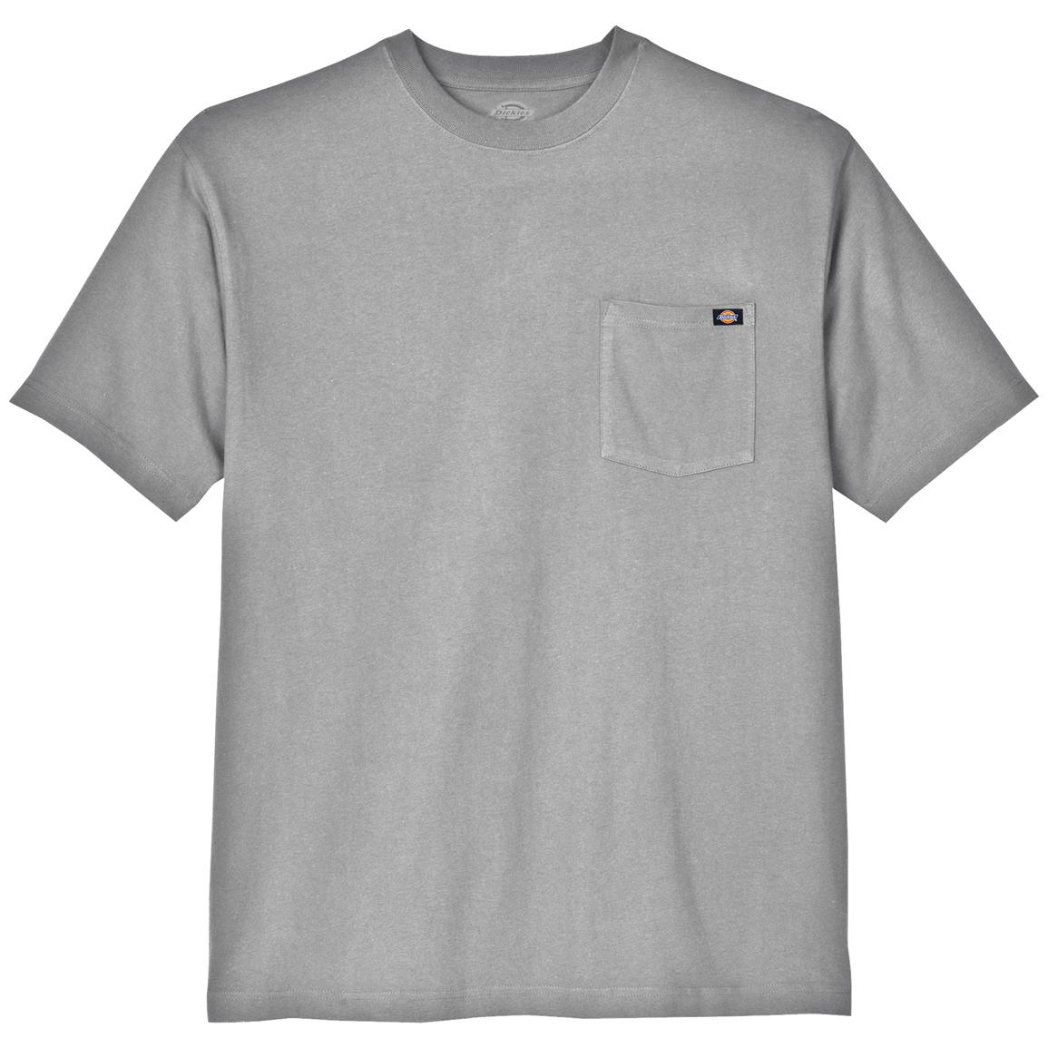 Dickies® Short-sleeved Heavyweight Crew Neck T-shirt, Heather Gray