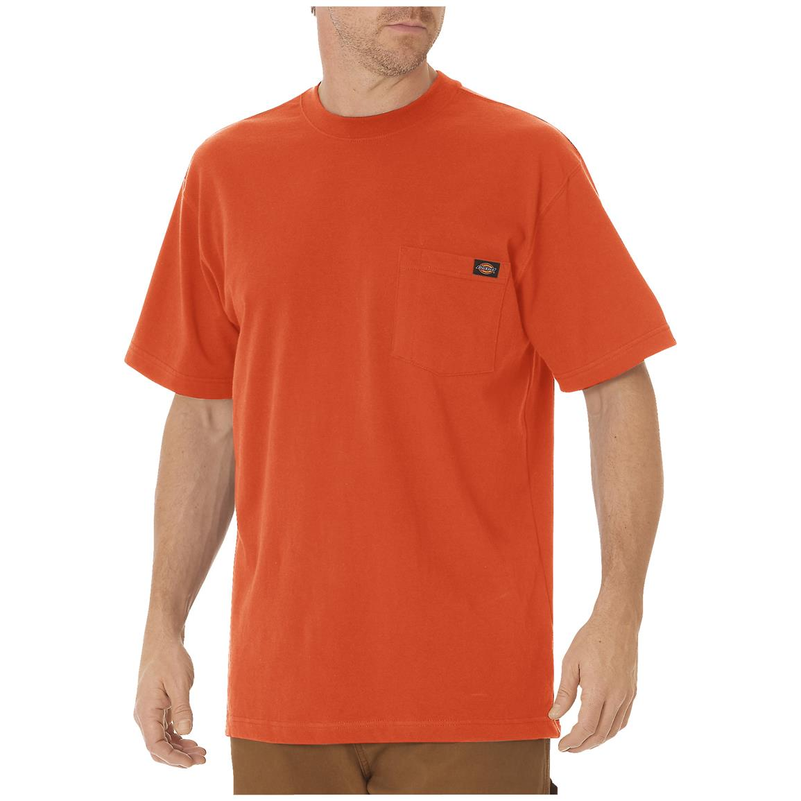 Dickies® Short-sleeved Heavyweight Crew Neck T-shirt, Orange