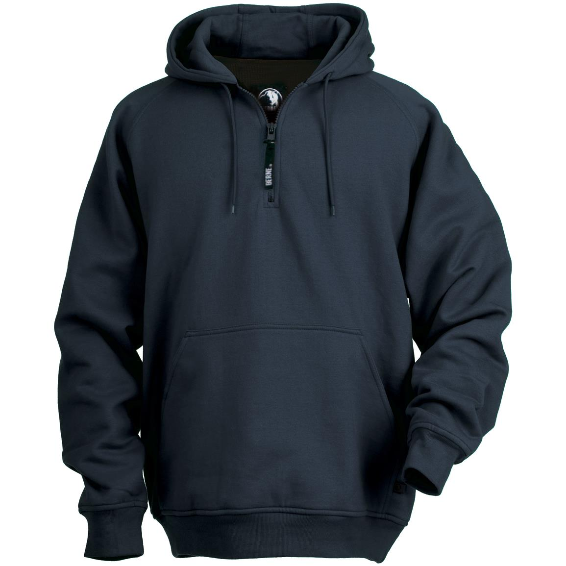 Berne® 1/4-zip Hooded Sweatshirt, Navy