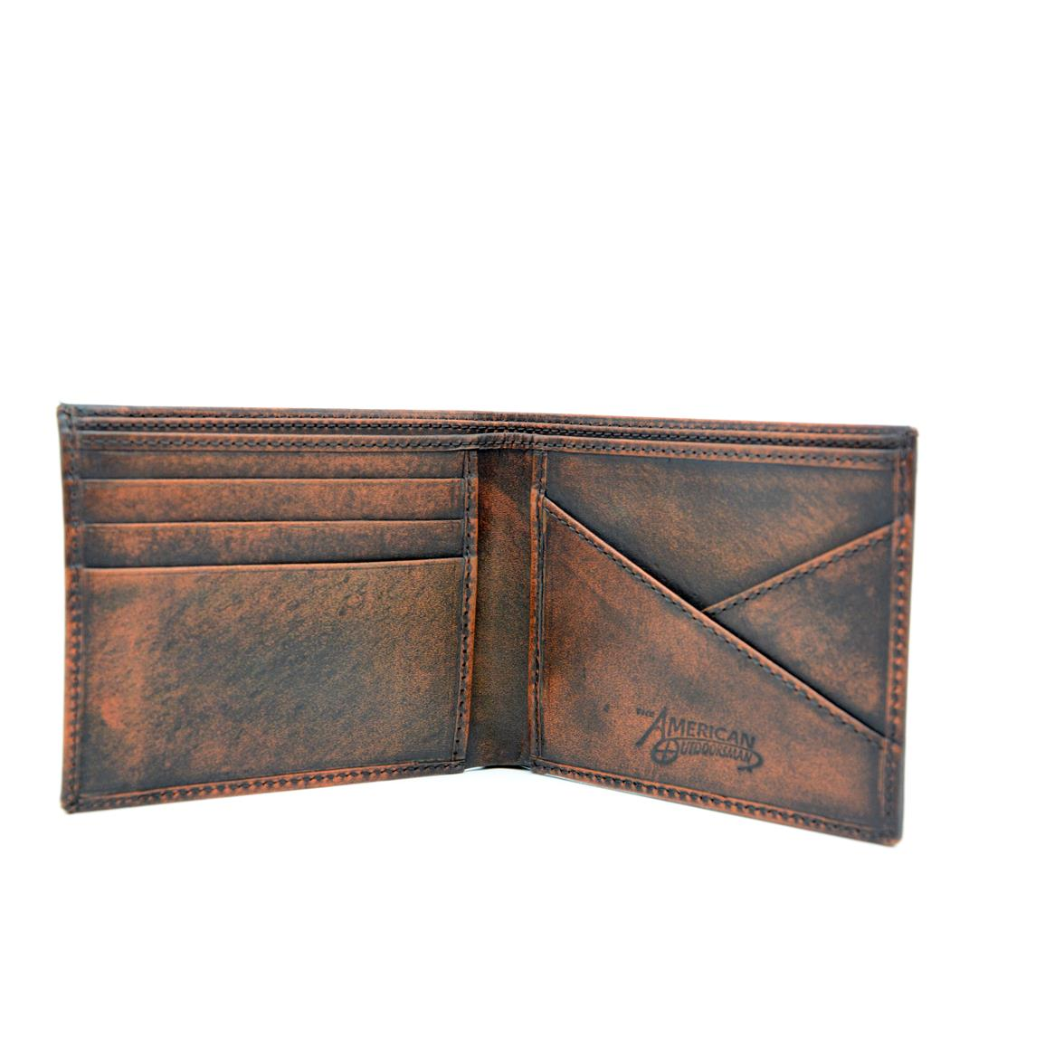 Constructed from genuine leather with washed finish