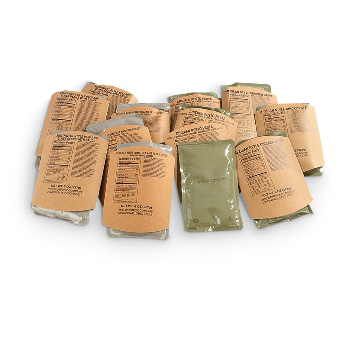 U.S. Military MRE 12 Variety Entrees