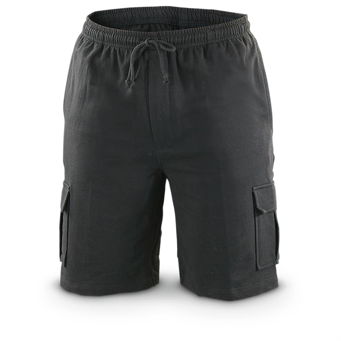 Guide Gear Men's Knit Cargo Shorts, Black