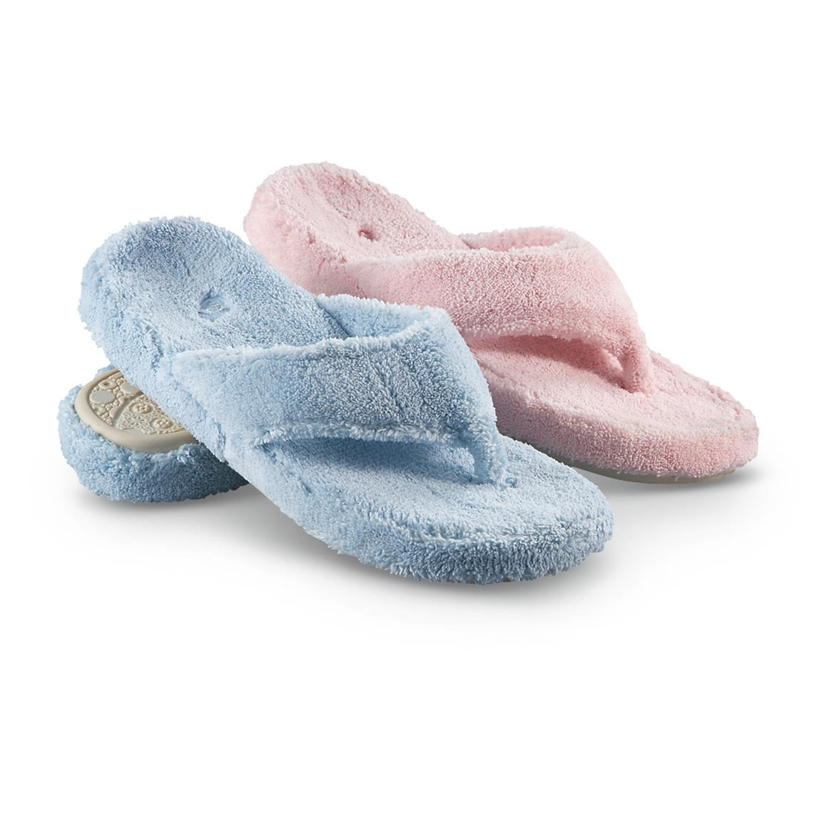 Acorn Women's Spa Thong Slippers, Powder 